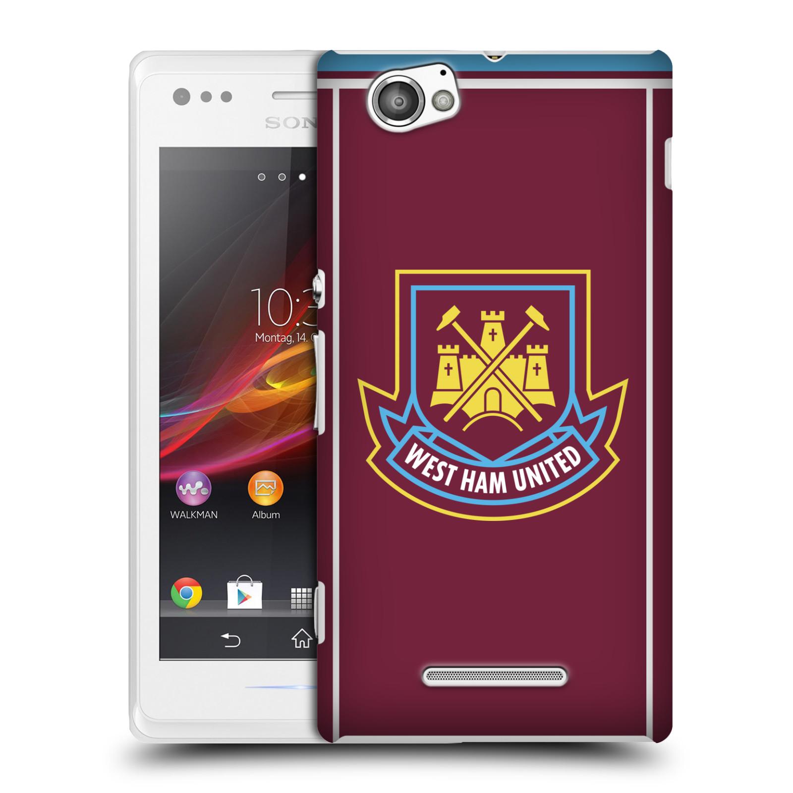 Plastové pouzdro na mobil Sony Xperia M C1905 - Head Case - West Ham United - Retro znak