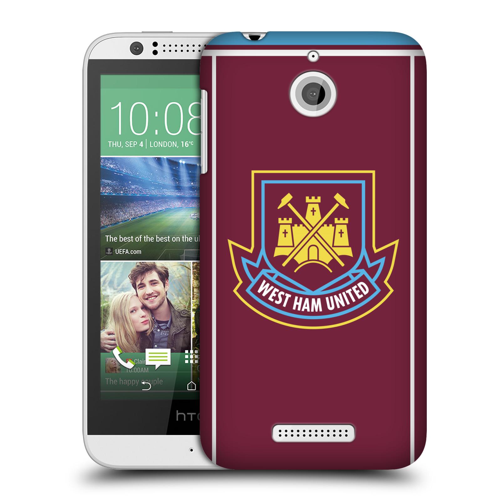 Plastové pouzdro na mobil HTC Desire 510 - Head Case - West Ham United - Retro znak