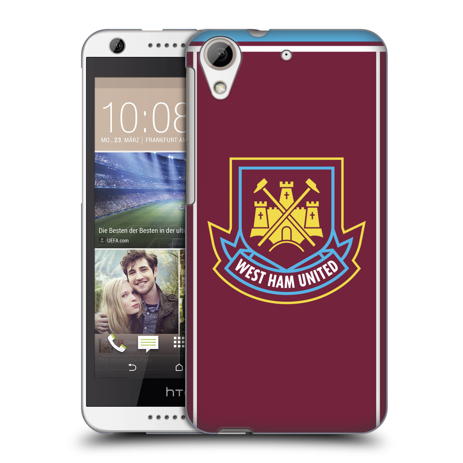 Plastové pouzdro na mobil HTC Desire 626 / 626G - Head Case - West Ham United - Retro znak