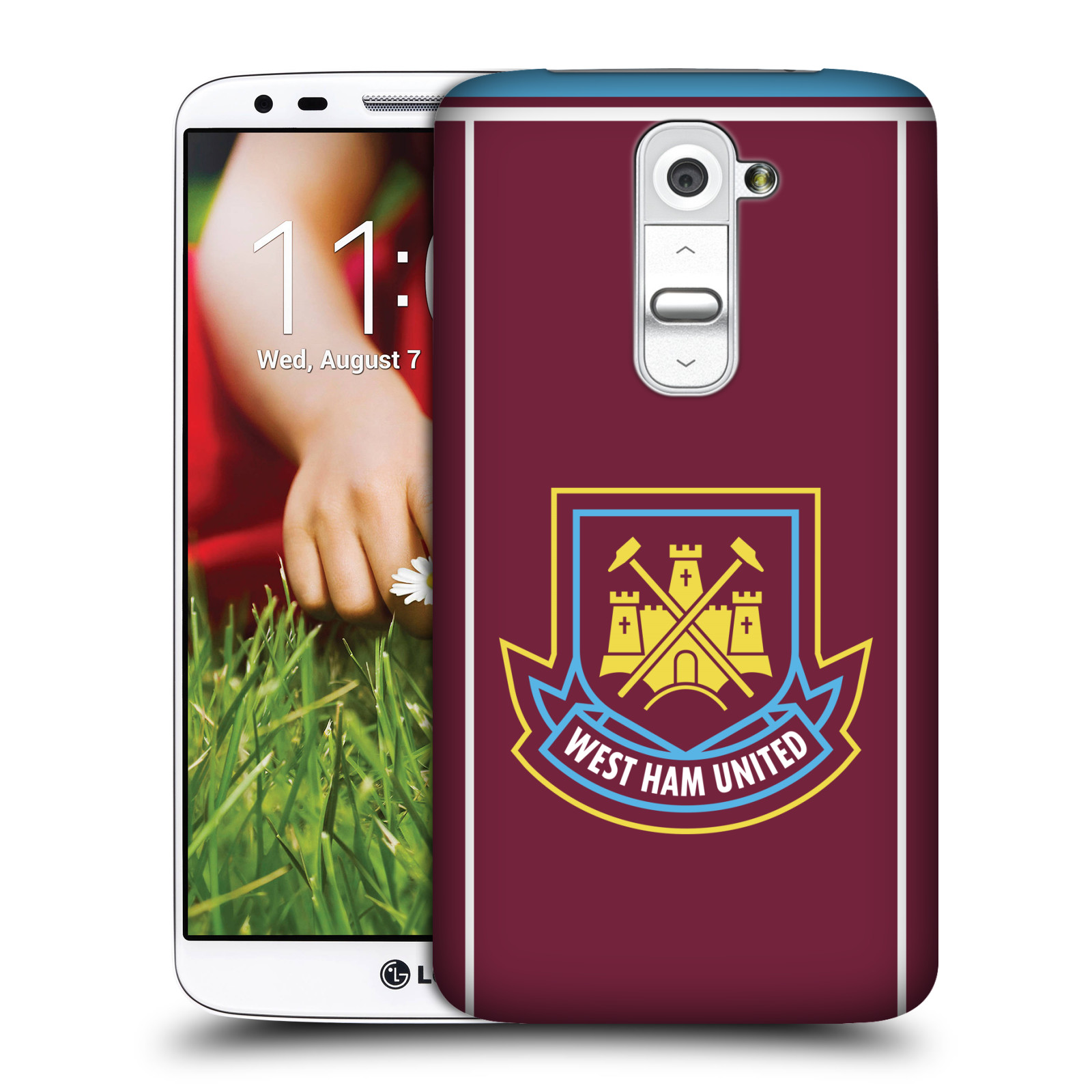 Plastové pouzdro na mobil LG G2 - Head Case - West Ham United - Retro znak