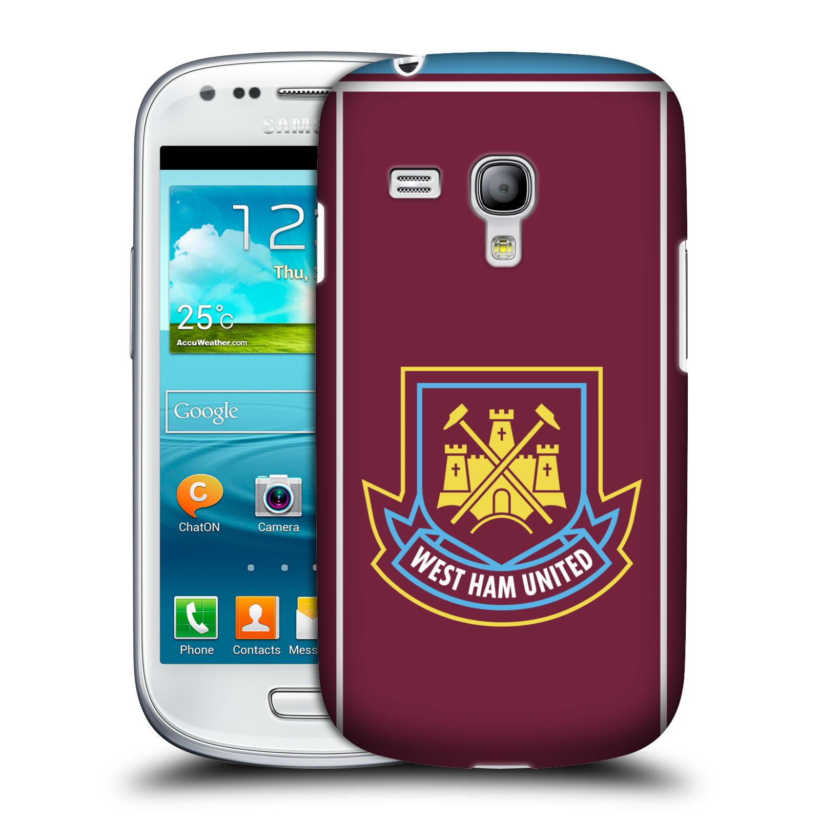 Plastové pouzdro na mobil Samsung Galaxy S III Mini - Head Case - West Ham United - Retro znak (Plastový kryt či obal na mobilní telefon s motivem West Ham United - Kladiváři - Retro znak pro Samsung Galaxy S III Mini GT-i8190)
