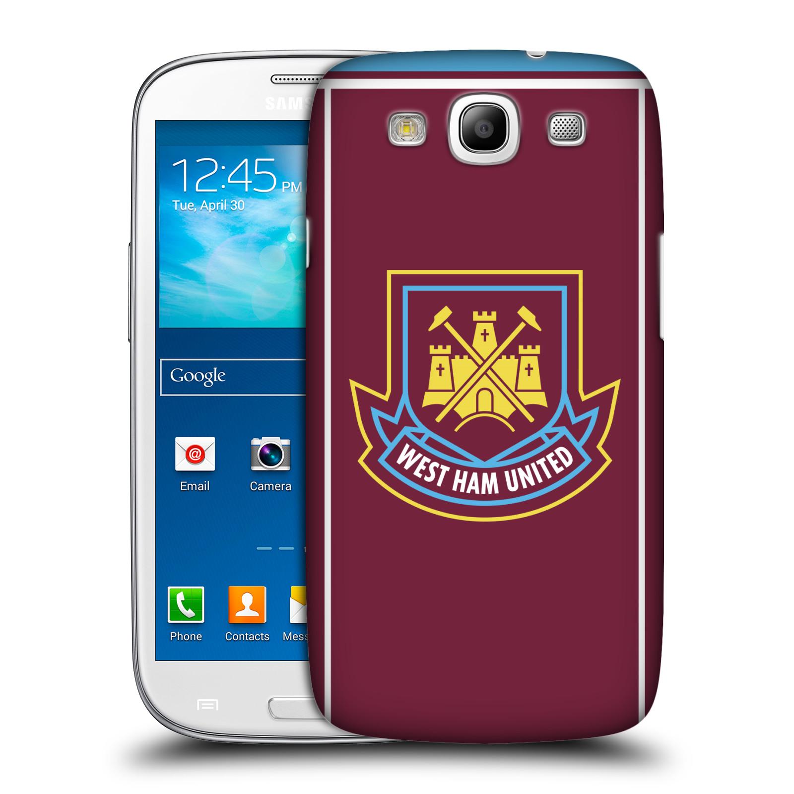 Plastové pouzdro na mobil Samsung Galaxy S III - Head Case - West Ham United - Retro znak (Plastový kryt či obal na mobilní telefon s motivem West Ham United - Kladiváři - Retro znak pro Samsung Galaxy S III GT-i9300)