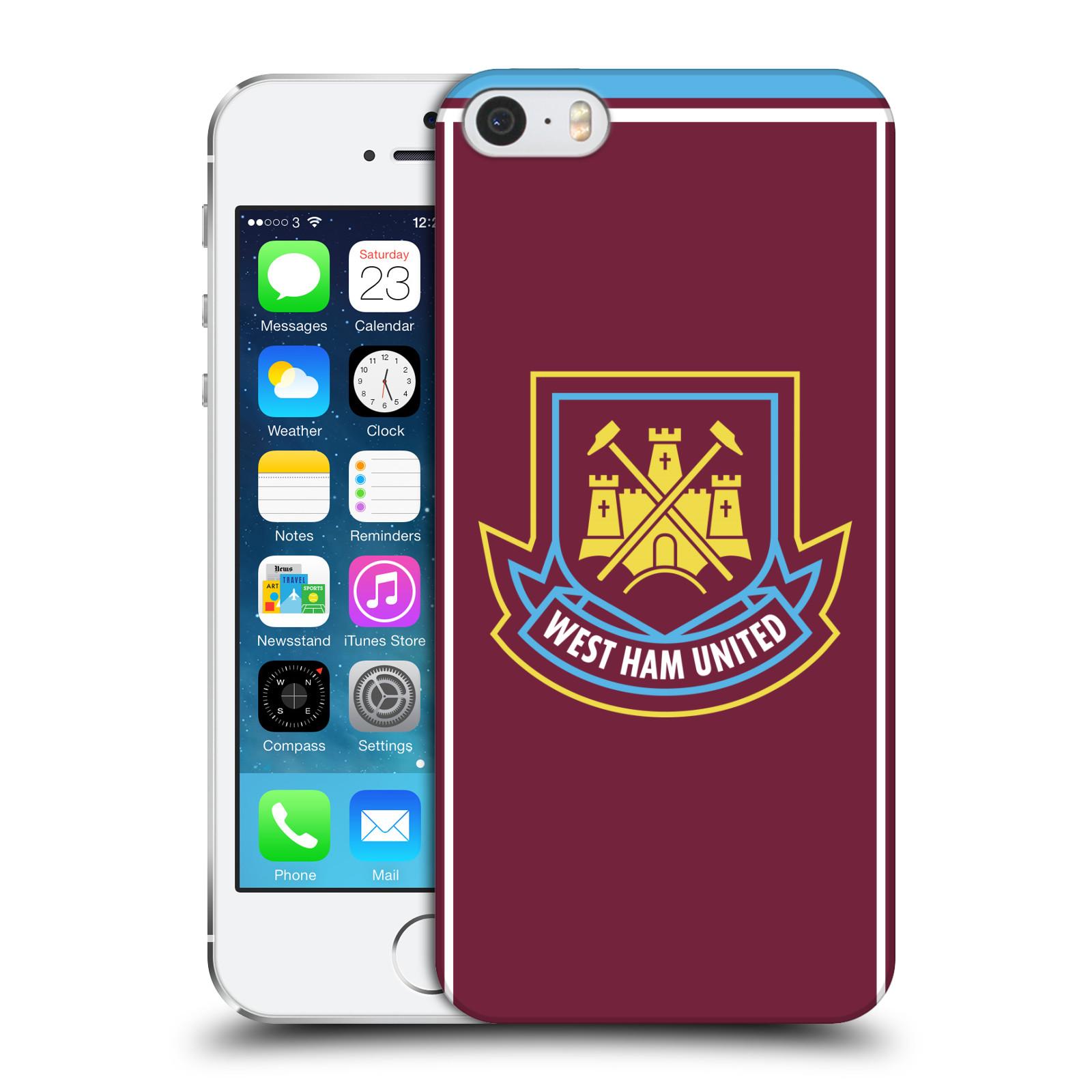 Plastové pouzdro na mobil Apple iPhone SE, 5 a 5S - Head Case - West Ham United - Retro znak (Plastový kryt či obal na mobilní telefon s motivem West Ham United - Kladiváři - Retro znak pro Apple iPhone SE, 5 a 5S)