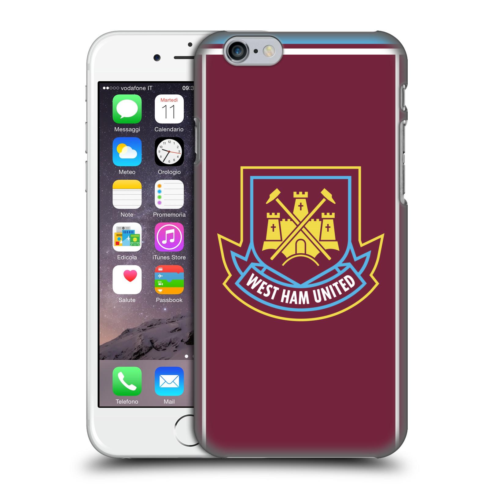 Plastové pouzdro na mobil Apple iPhone 6 - Head Case - West Ham United - Retro znak (Plastový kryt či obal na mobilní telefon s motivem West Ham United - Kladiváři - Retro znak pro Apple iPhone 6)