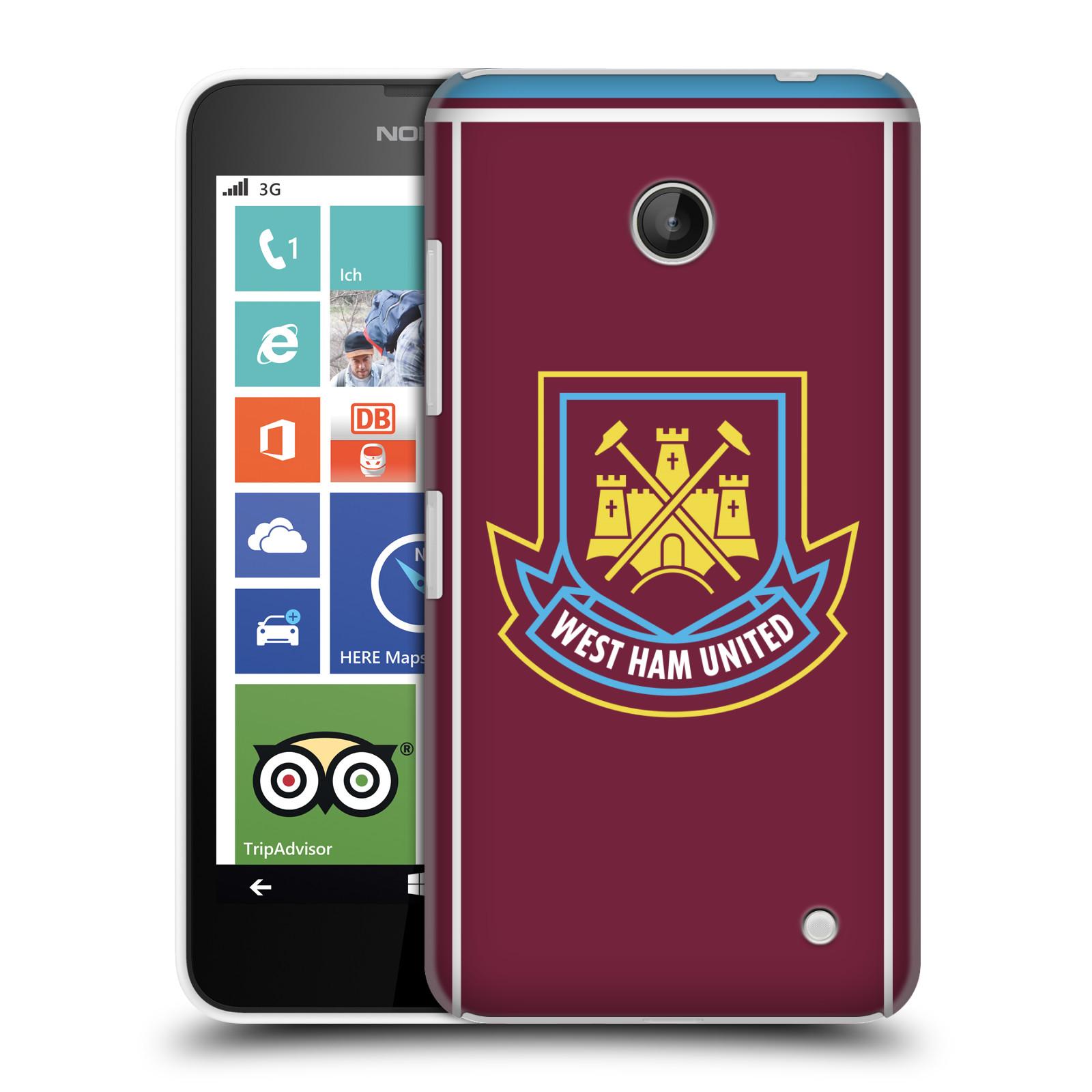 Plastové pouzdro na mobil Nokia Lumia 630 - Head Case - West Ham United - Retro znak (Plastový kryt či obal na mobilní telefon s motivem West Ham United - Kladiváři - Retro znak pro Nokia Lumia 630 a Nokia Lumia 630 Dual SIM)