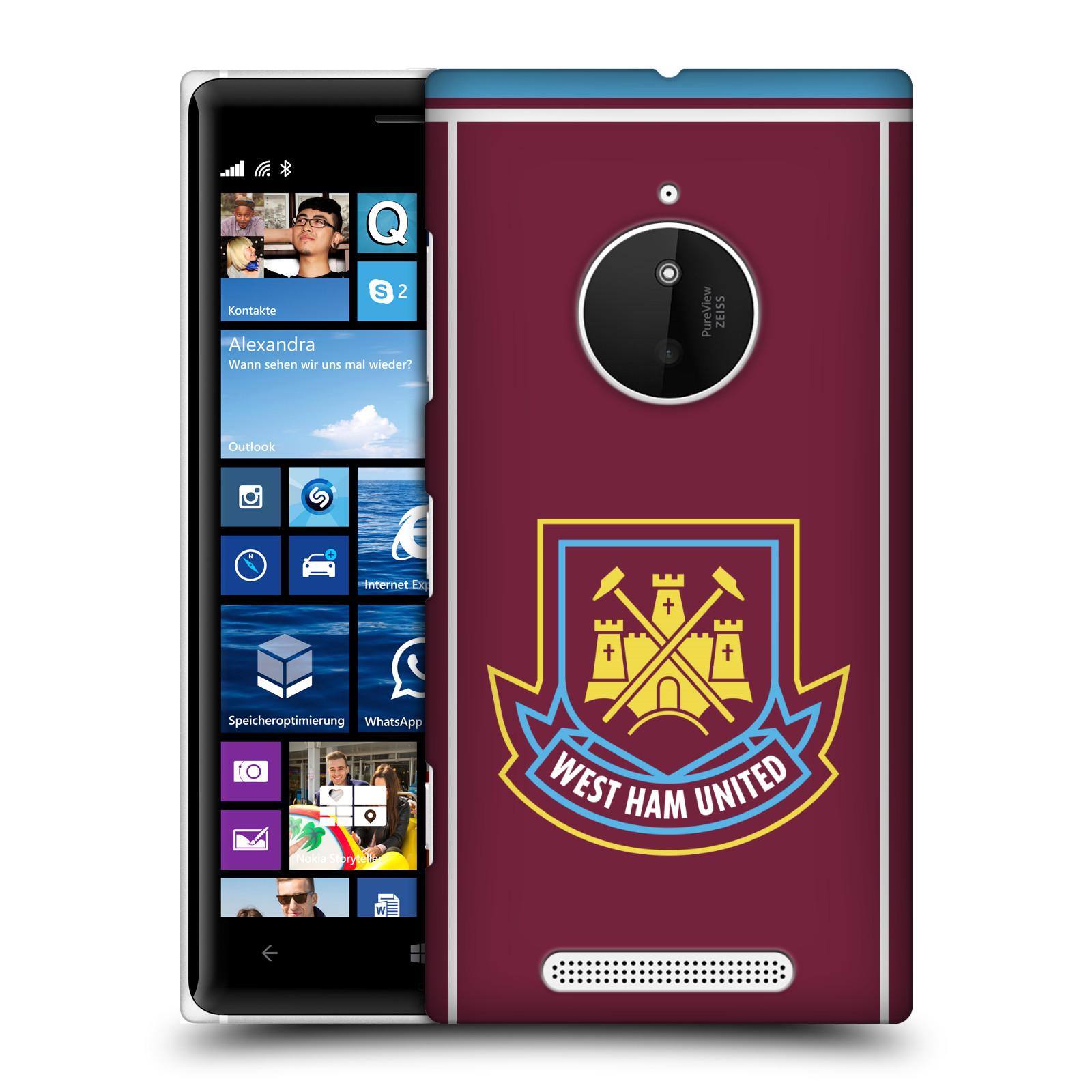 Plastové pouzdro na mobil Nokia Lumia 830 - Head Case - West Ham United - Retro znak (Plastový kryt či obal na mobilní telefon s motivem West Ham United - Kladiváři - Retro znak pro Nokia Lumia 830)