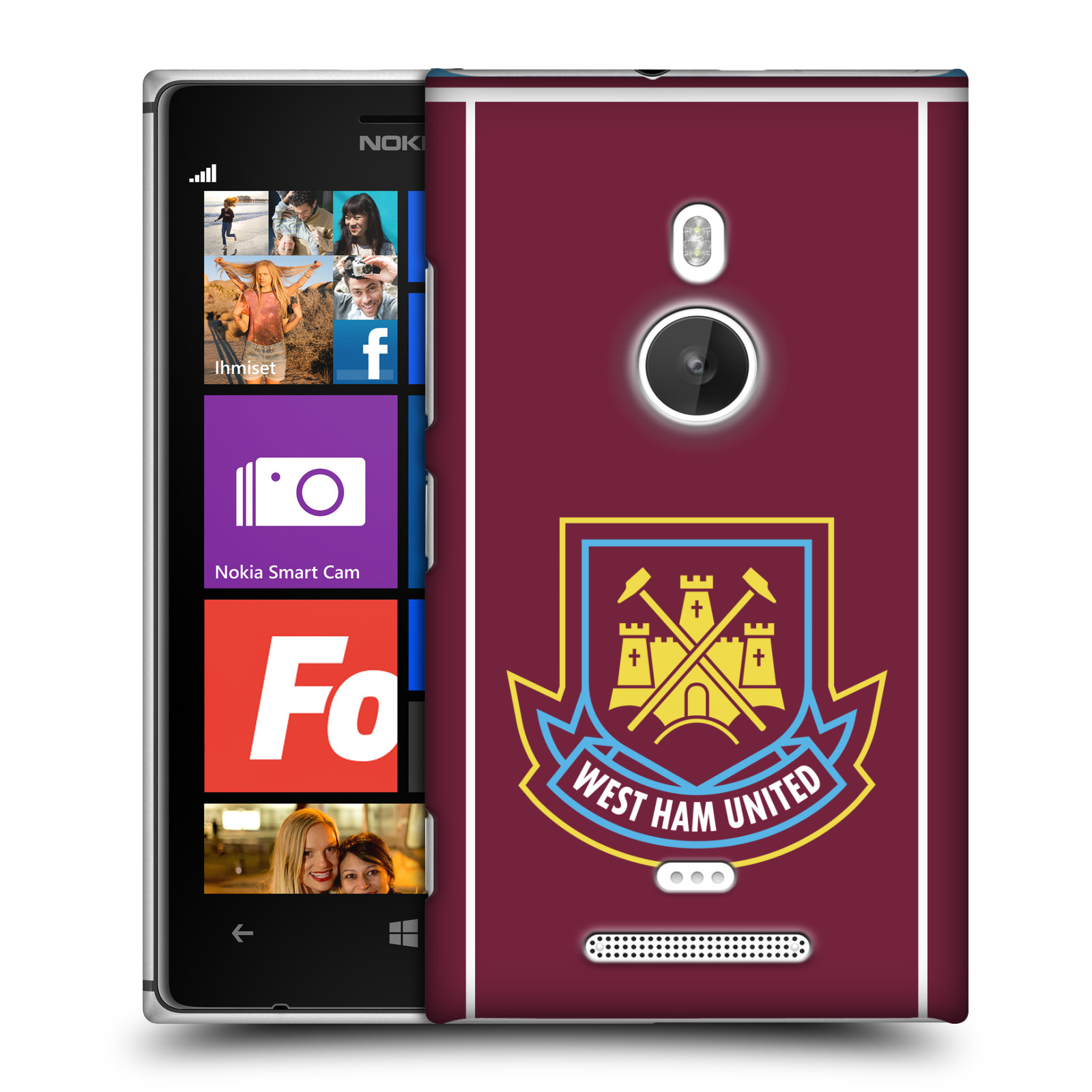 Plastové pouzdro na mobil Nokia Lumia 925 - Head Case - West Ham United - Retro znak (Plastový kryt či obal na mobilní telefon s motivem West Ham United - Kladiváři - Retro znak pro Nokia Lumia 925)