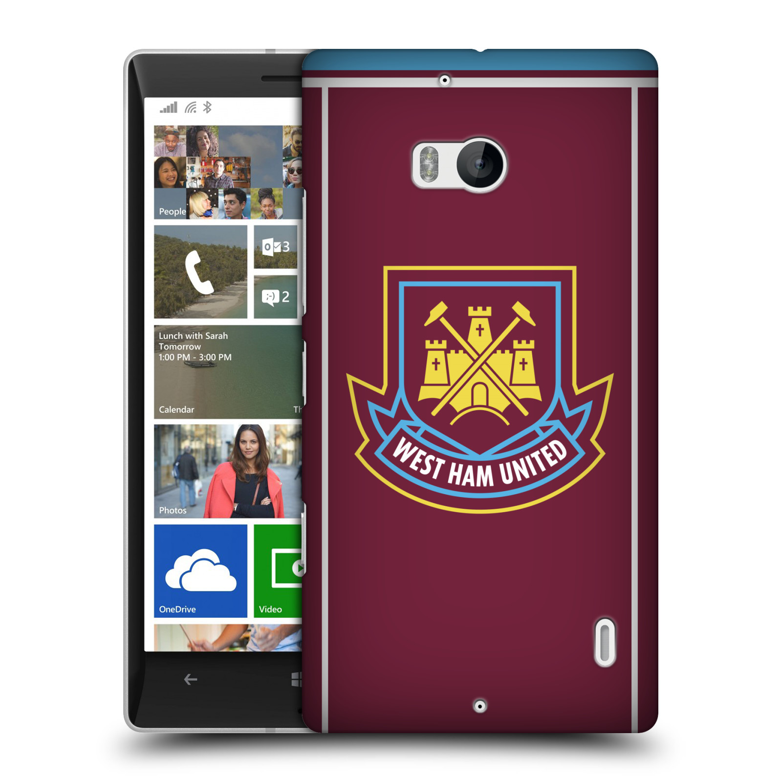 Plastové pouzdro na mobil Nokia Lumia 930 - Head Case - West Ham United - Retro znak (Plastový kryt či obal na mobilní telefon s motivem West Ham United - Kladiváři - Retro znak pro Nokia Lumia 930)
