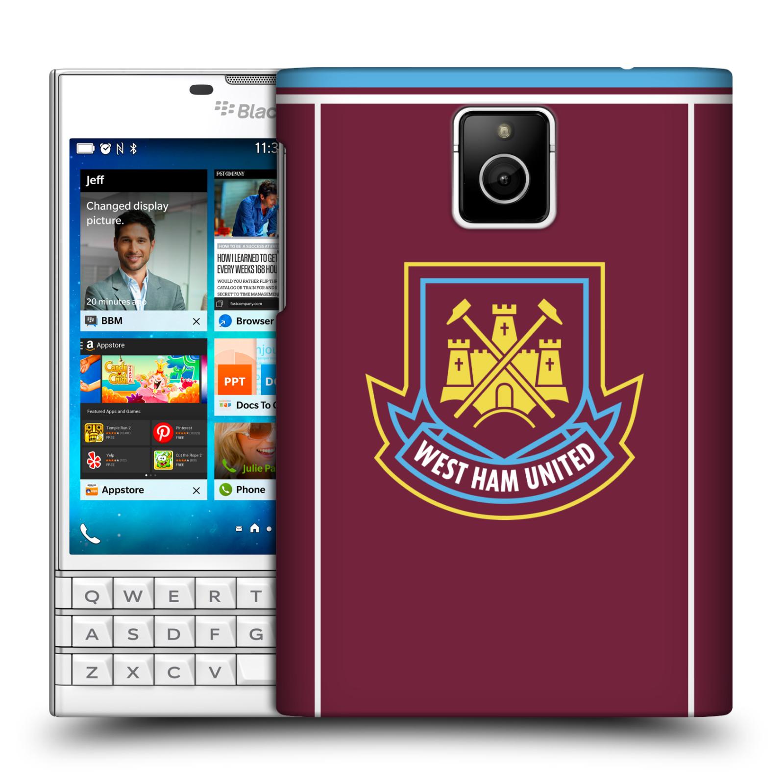 Plastové pouzdro na mobil Blackberry PASSPORT - Head Case - West Ham United - Retro znak (Plastový kryt či obal na mobilní telefon s motivem West Ham United - Kladiváři - Retro znak pro Blackberry PASSPORT)