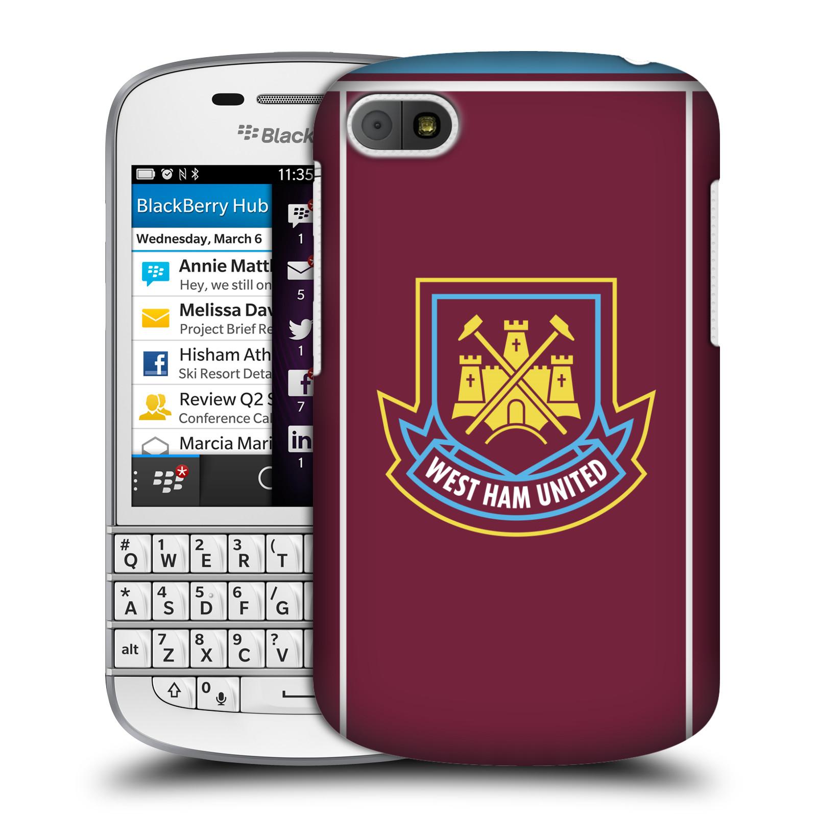 Plastové pouzdro na mobil Blackberry Q10 - Head Case - West Ham United - Retro znak (Plastový kryt či obal na mobilní telefon s motivem West Ham United - Kladiváři - Retro znak pro Blackberry Q10)