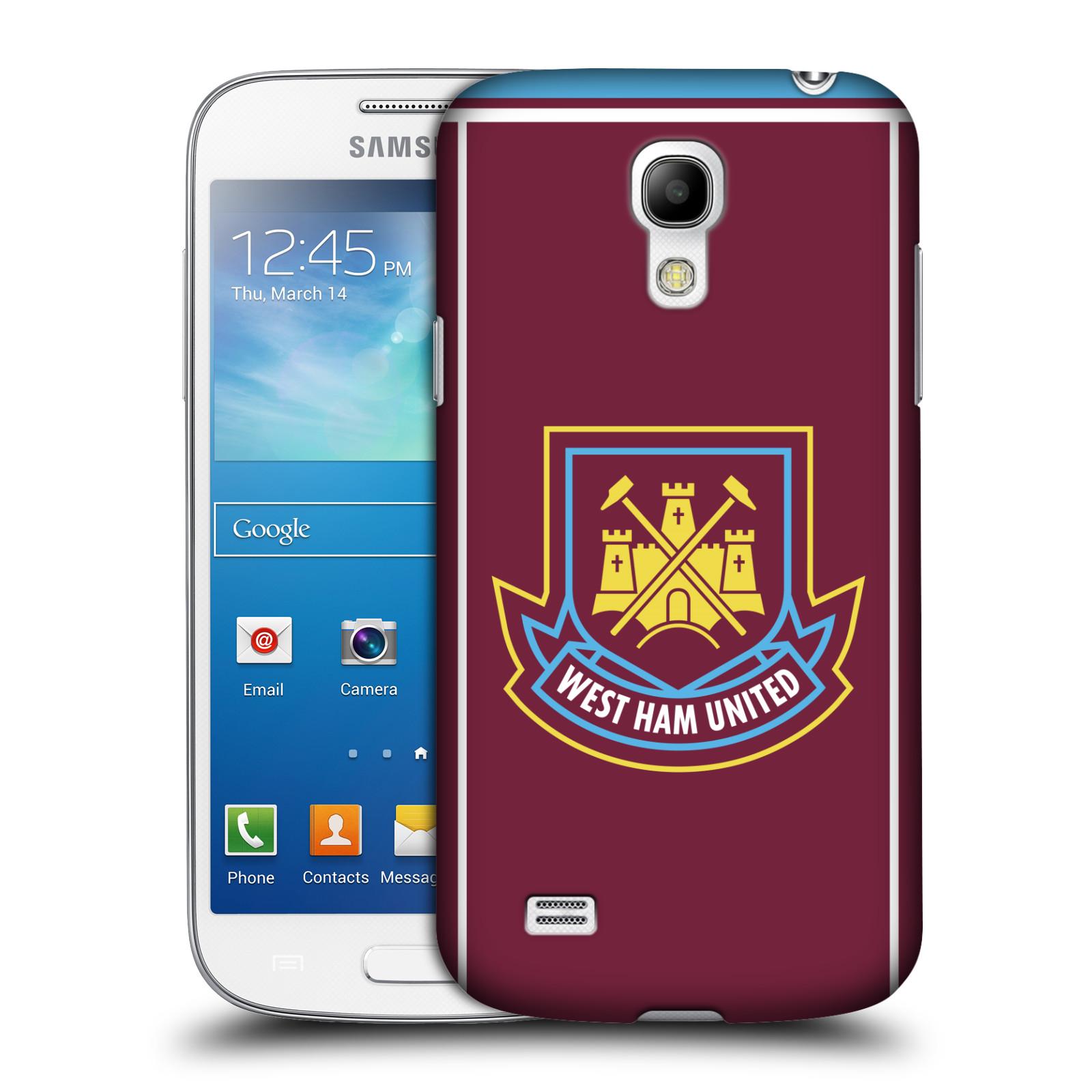 Plastové pouzdro na mobil Samsung Galaxy S4 Mini - Head Case - West Ham United - Retro znak (Plastový kryt či obal na mobilní telefon s motivem West Ham United - Kladiváři - Retro znak pro Samsung Galaxy S4 Mini GT-i9195 / i9190)