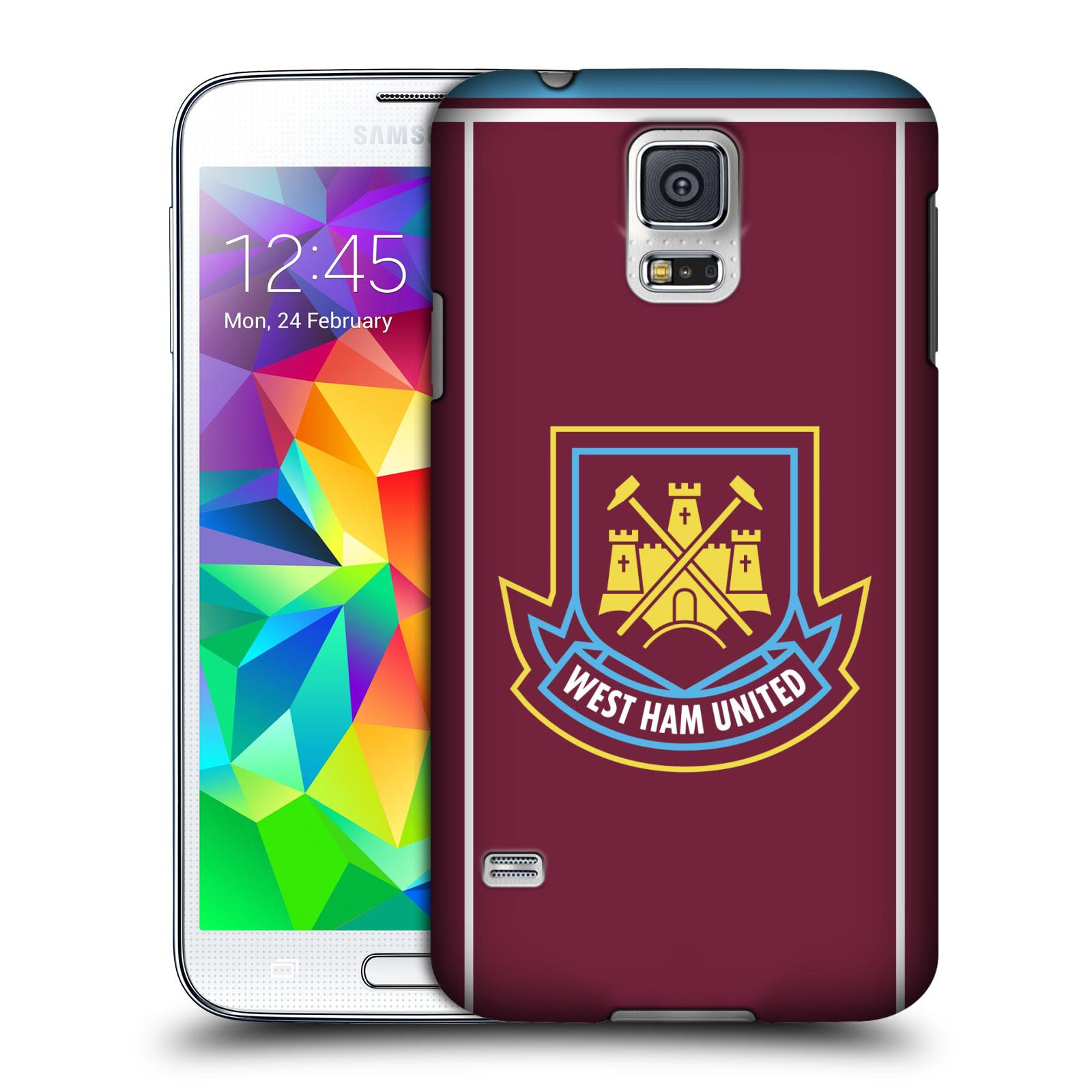 Plastové pouzdro na mobil Samsung Galaxy S5 - Head Case - West Ham United - Retro znak (Plastový kryt či obal na mobilní telefon s motivem West Ham United - Kladiváři - Retro znak pro Samsung Galaxy S5 SM-G900F)
