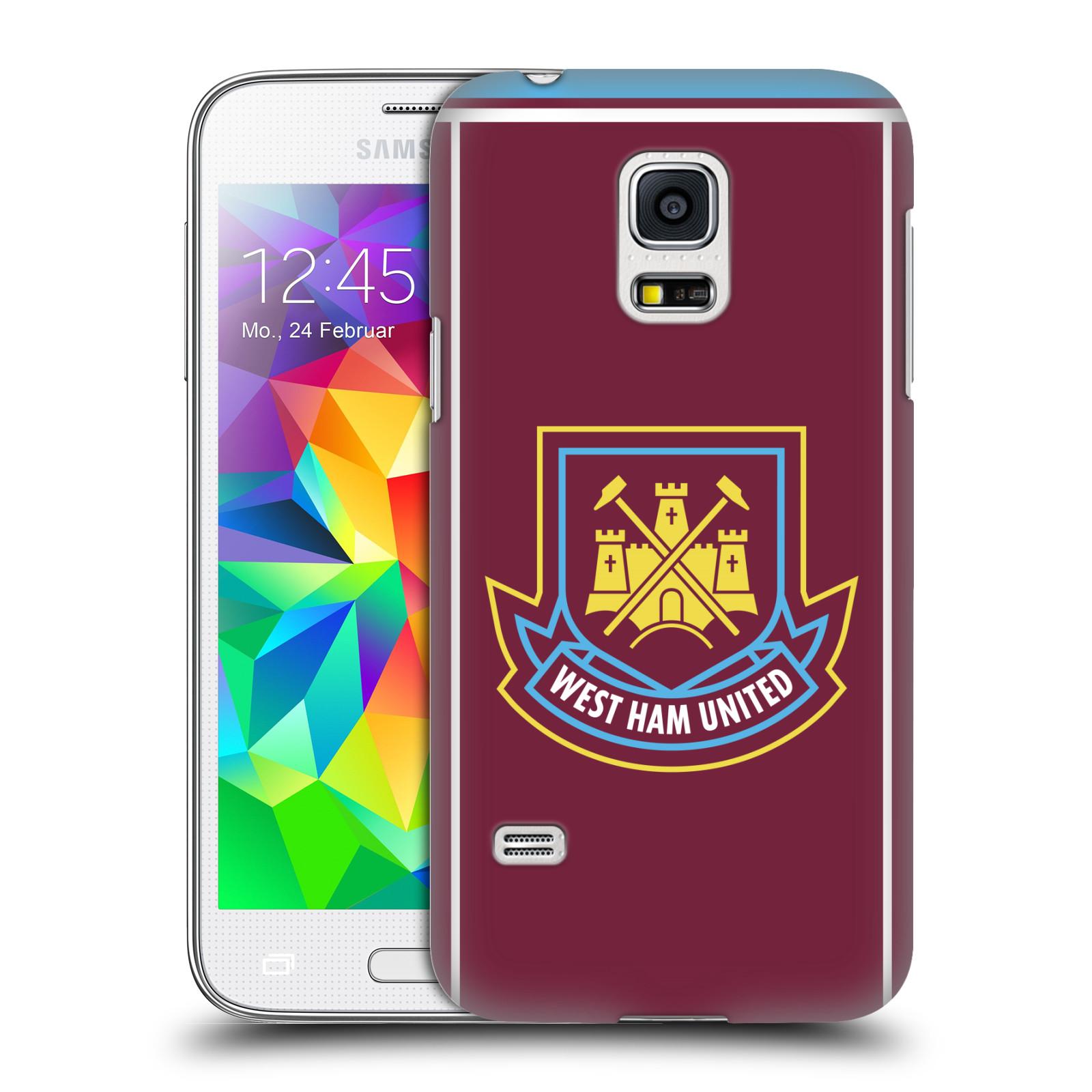 Plastové pouzdro na mobil Samsung Galaxy S5 Mini - Head Case - West Ham United - Retro znak (Plastový kryt či obal na mobilní telefon s motivem West Ham United - Kladiváři - Retro znak pro Samsung Galaxy S5 Mini SM-G800F)