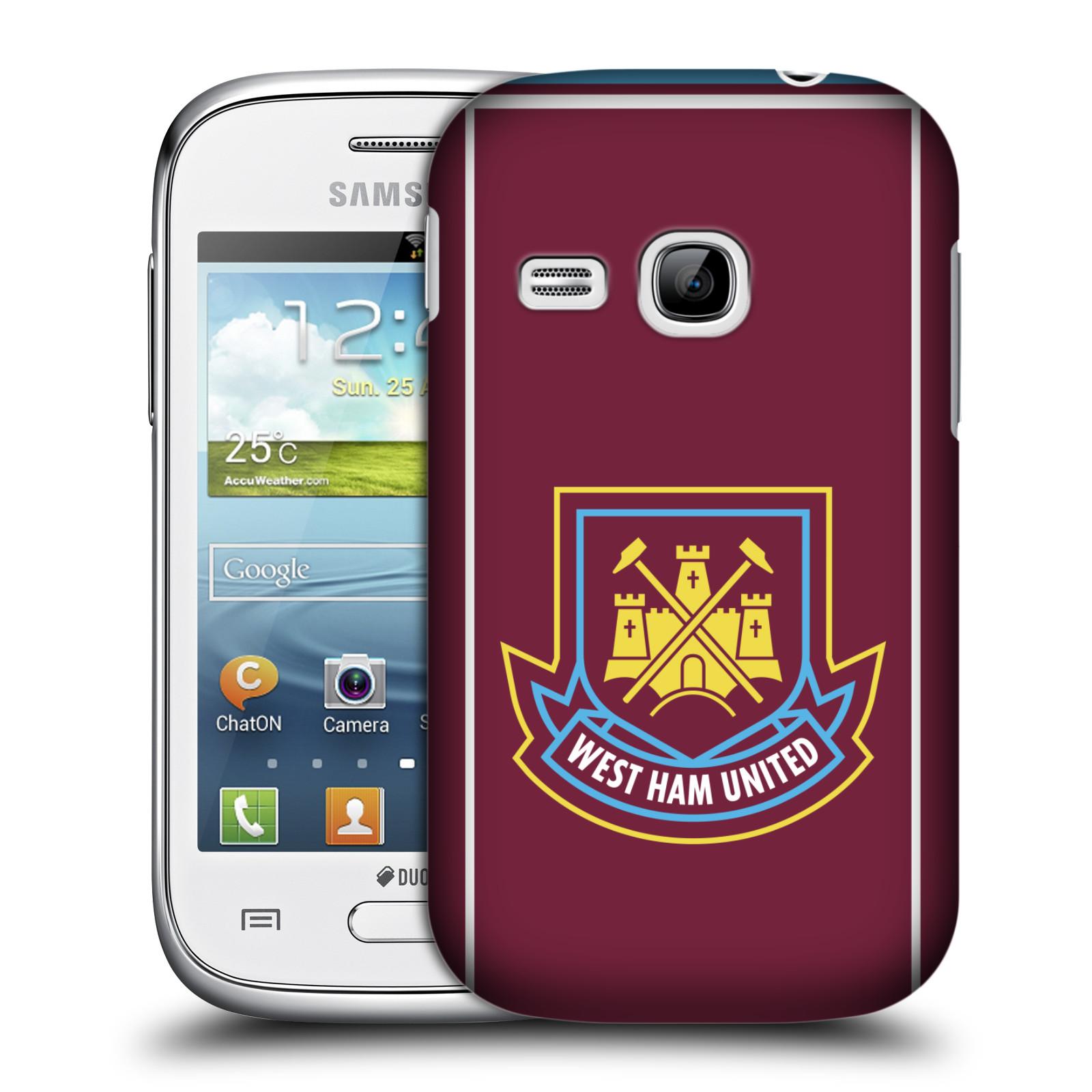 Plastové pouzdro na mobil Samsung Galaxy Young - Head Case - West Ham United - Retro znak (Plastový kryt či obal na mobilní telefon s motivem West Ham United - Kladiváři - Retro znak pro Samsung Galaxy Young GT-S6310)