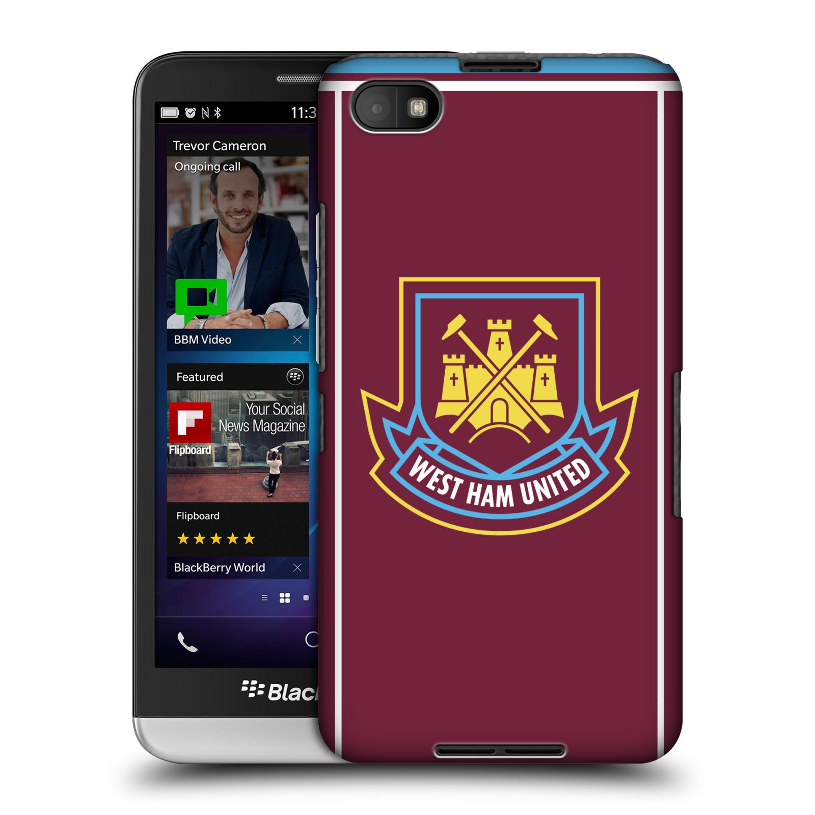 Plastové pouzdro na mobil Blackberry Z30 - Head Case - West Ham United - Retro znak (Plastový kryt či obal na mobilní telefon s motivem West Ham United - Kladiváři - Retro znak pro Blackberry Z30)
