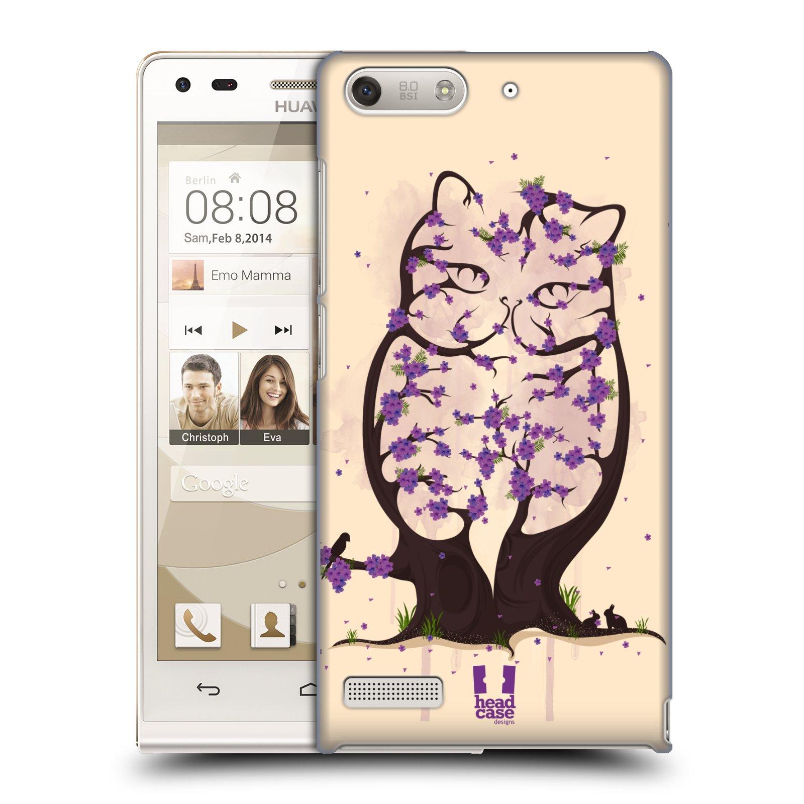 Plastové pouzdro na mobil Huawei Ascend G6 HEAD CASE BLOOM KOČKA (Kryt či obal na mobilní telefon Huawei Ascend G6 bez LTE)