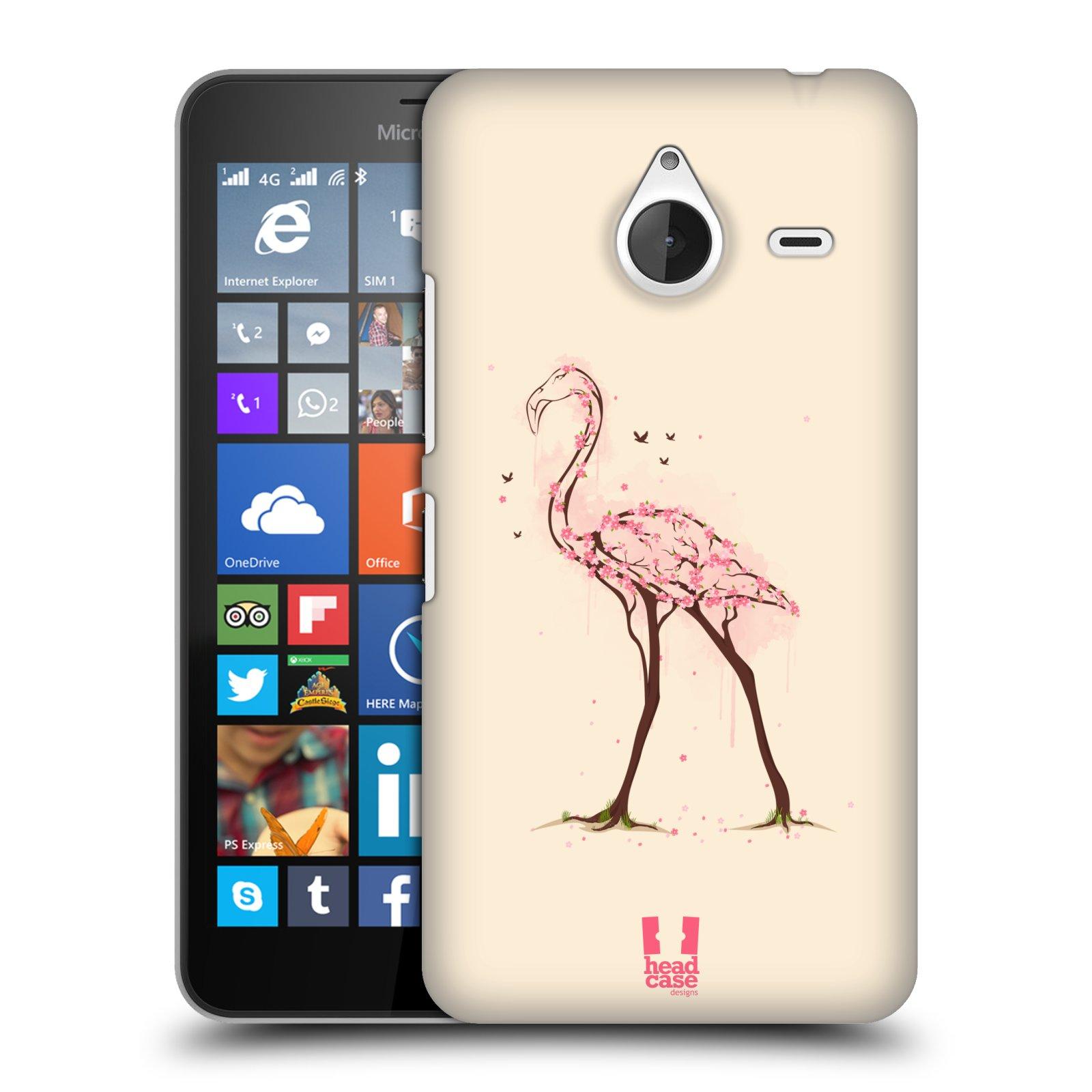 Plastové pouzdro na mobil Microsoft Lumia 640 XL HEAD CASE BLOOM PLAMEŇÁK