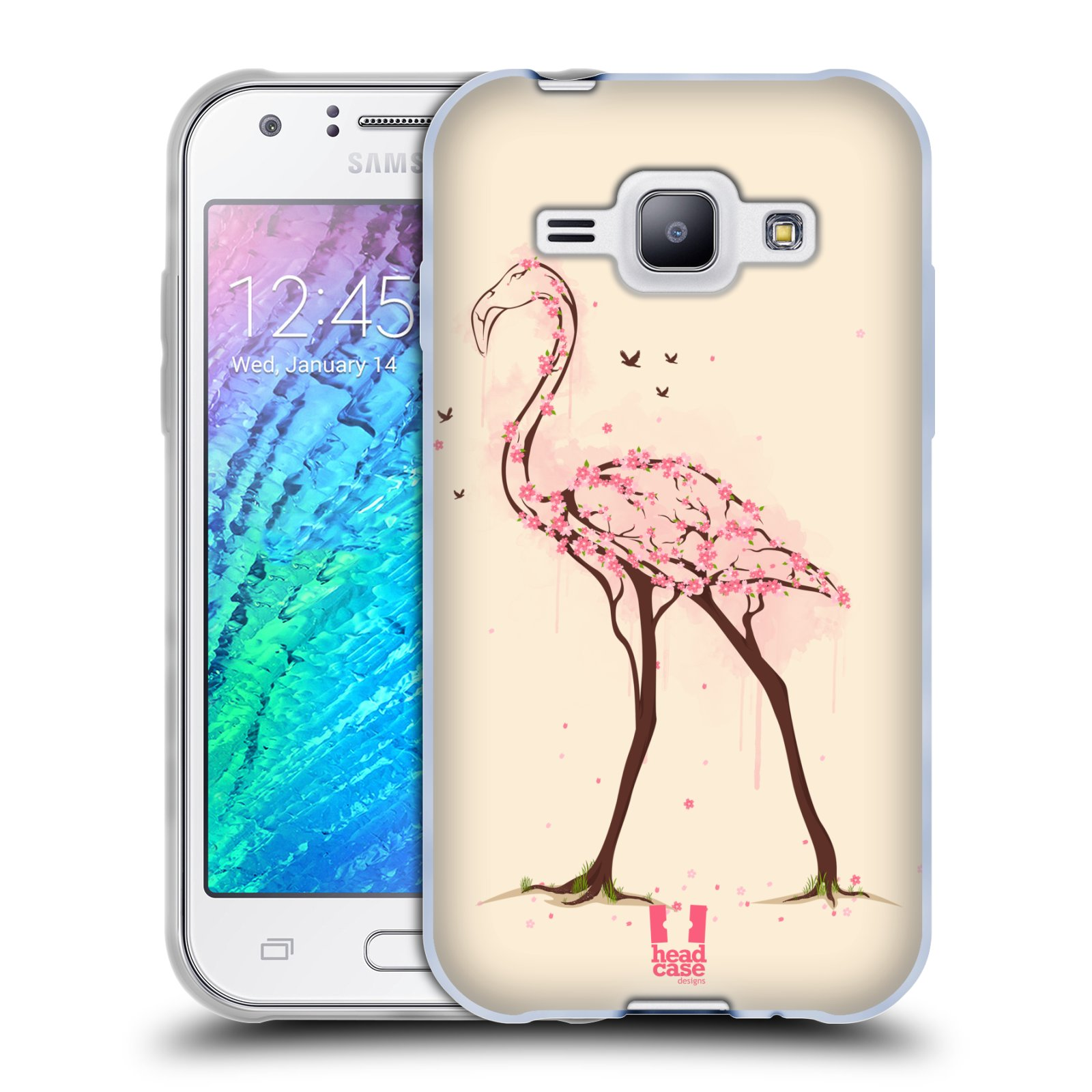 Silikonové pouzdro na mobil Samsung Galaxy J1 HEAD CASE BLOOM PLAMEŇÁK