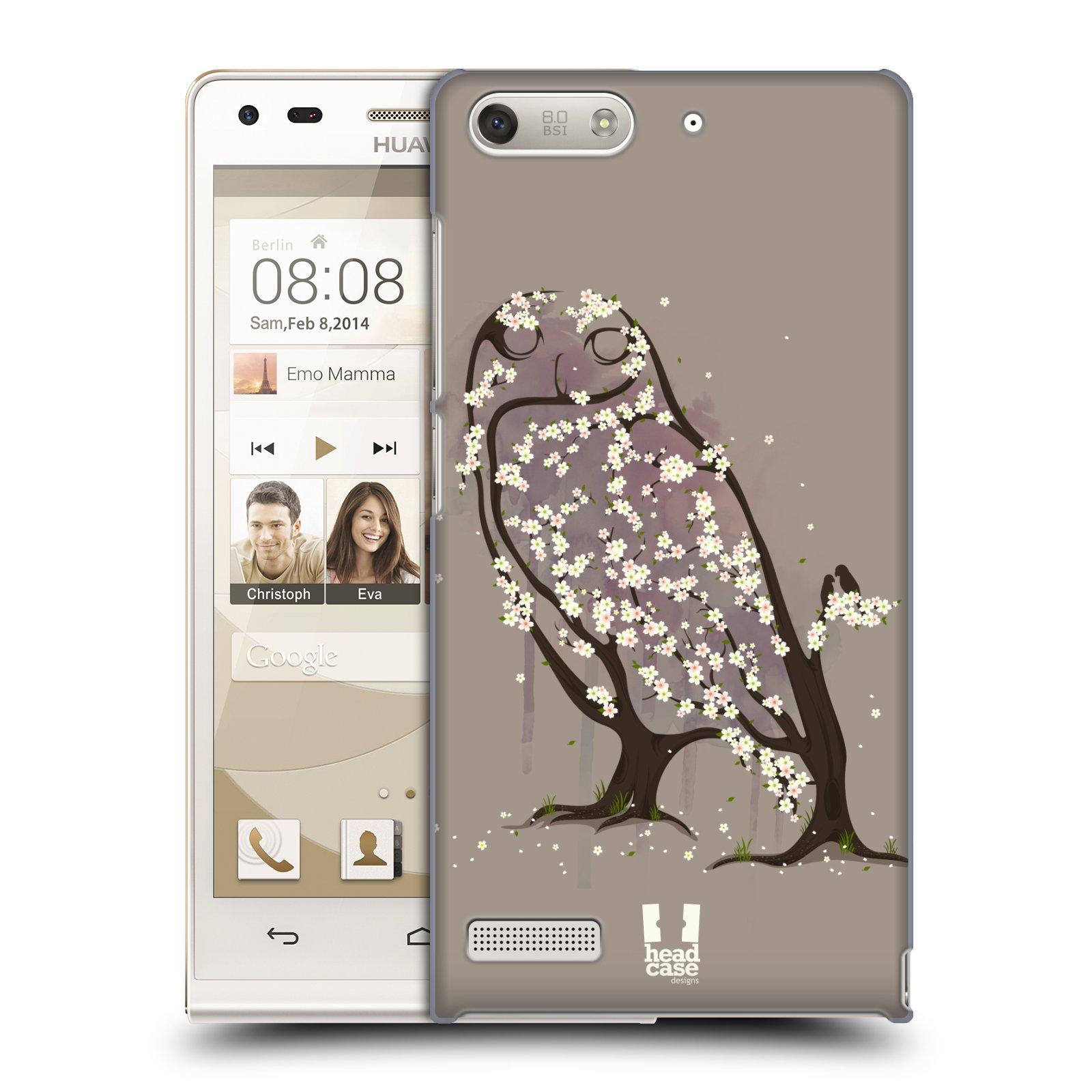 Plastové pouzdro na mobil Huawei Ascend G6 HEAD CASE BLOOM SOVA (Kryt či obal na mobilní telefon Huawei Ascend G6 bez LTE)