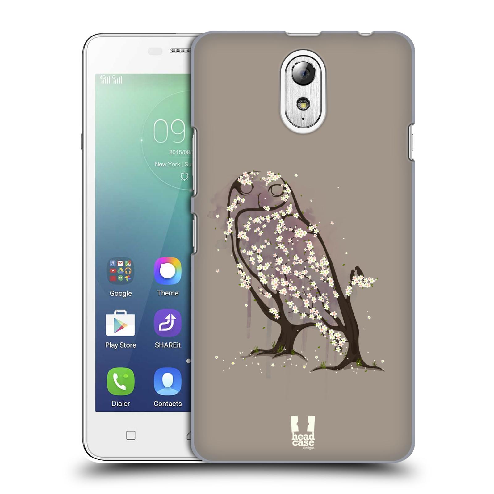 Plastové pouzdro na mobil Lenovo Vibe P1m HEAD CASE BLOOM SOVA Kryt či obal na