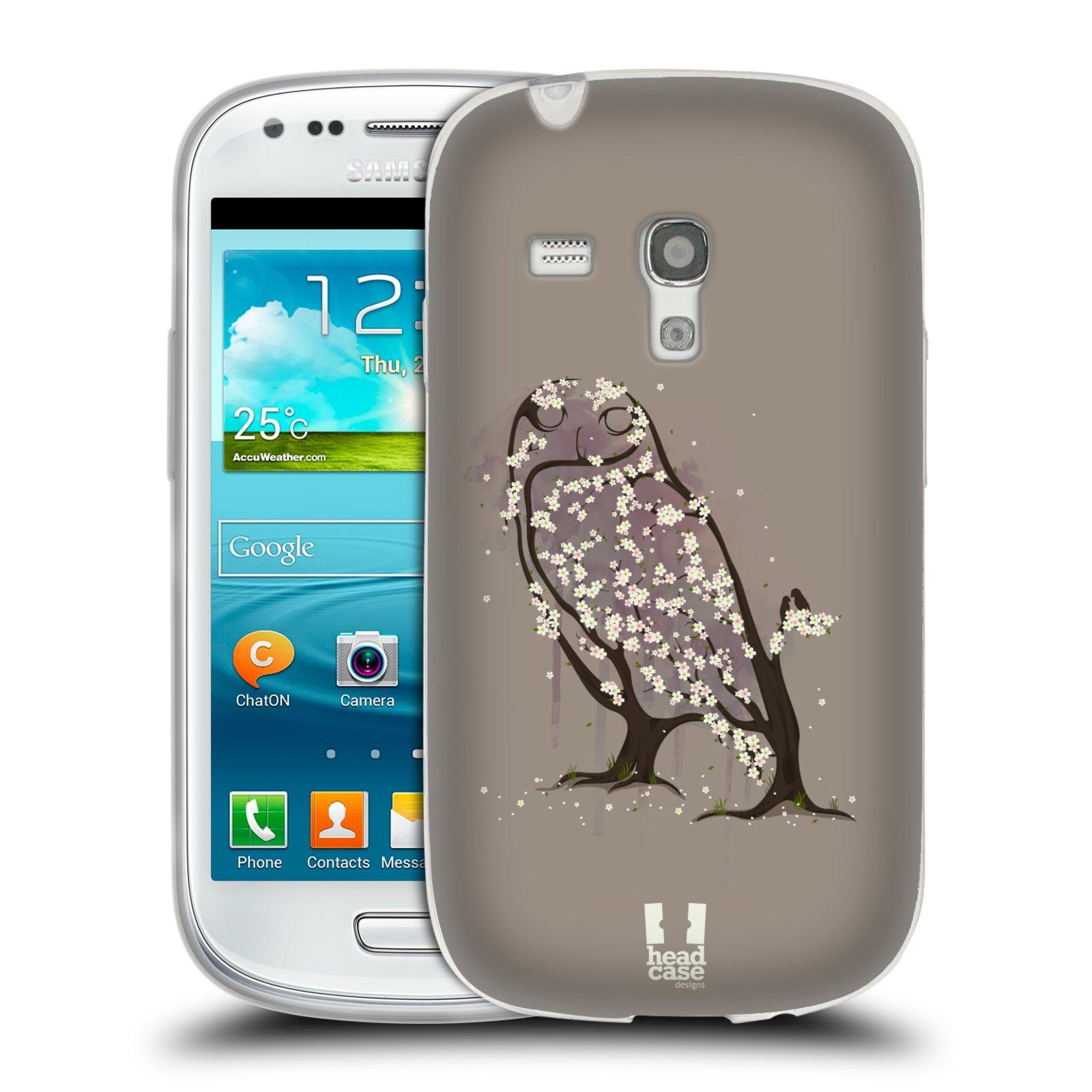 Silikonové pouzdro na mobil Samsung Galaxy S3 Mini VE HEAD CASE BLOOM SOVA (Silikonový kryt či obal na mobilní telefon Samsung Galaxy S3 Mini VE GT-i8200)