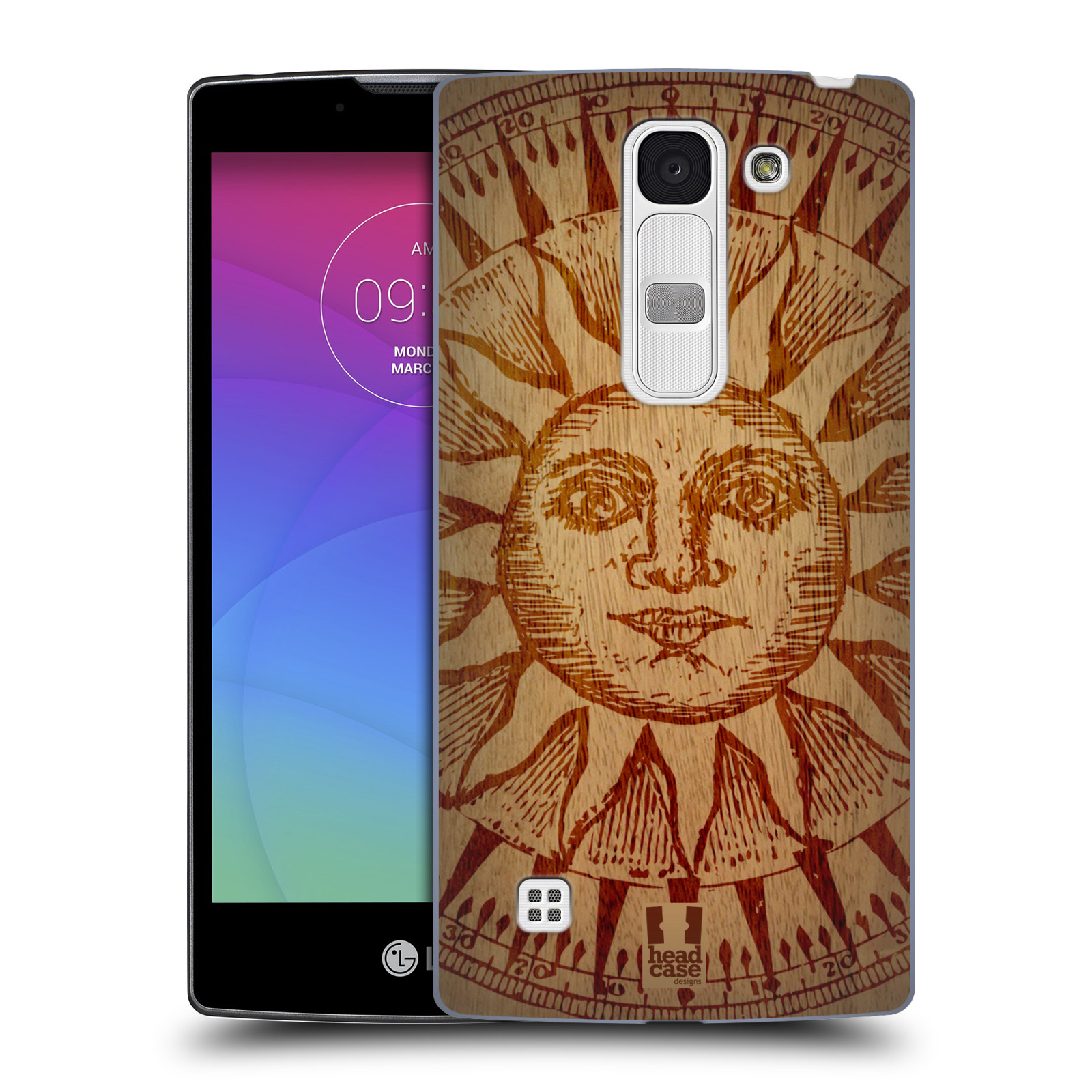 Plastové pouzdro na mobil LG Spirit LTE HEAD CASE WOODART SLUNCE