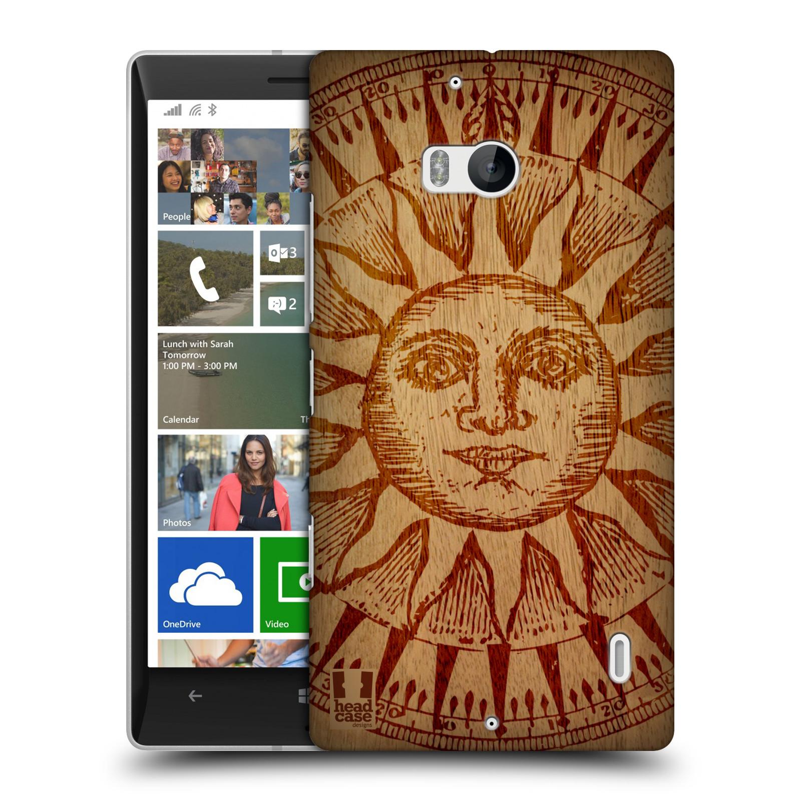Plastové pouzdro na mobil Nokia Lumia 930 HEAD CASE WOODART SLUNCE
