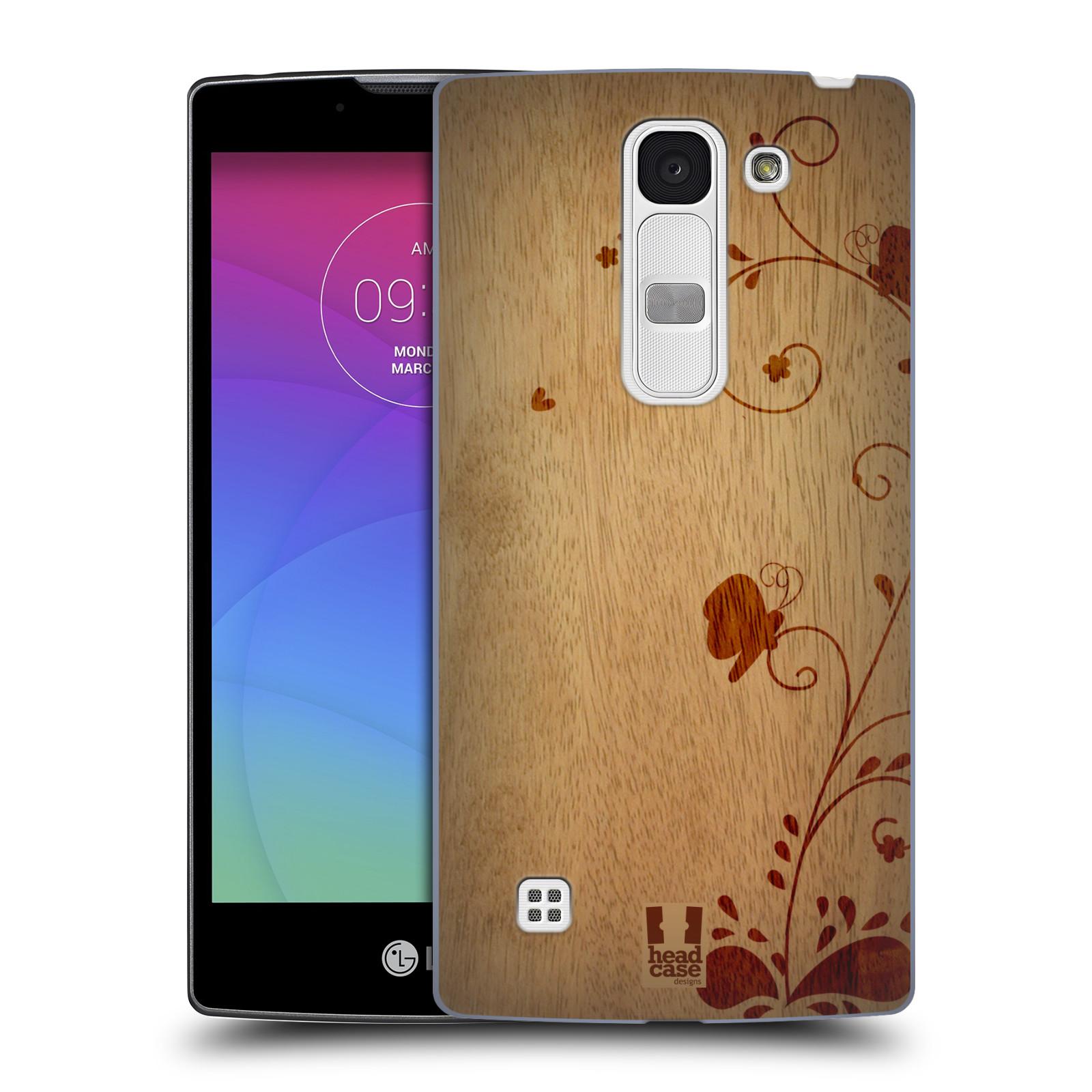 Plastové pouzdro na mobil LG Spirit LTE HEAD CASE WOODART SWIRL (Kryt či obal na mobilní telefon LG Spirit H420 a LG Spirit LTE H440N)