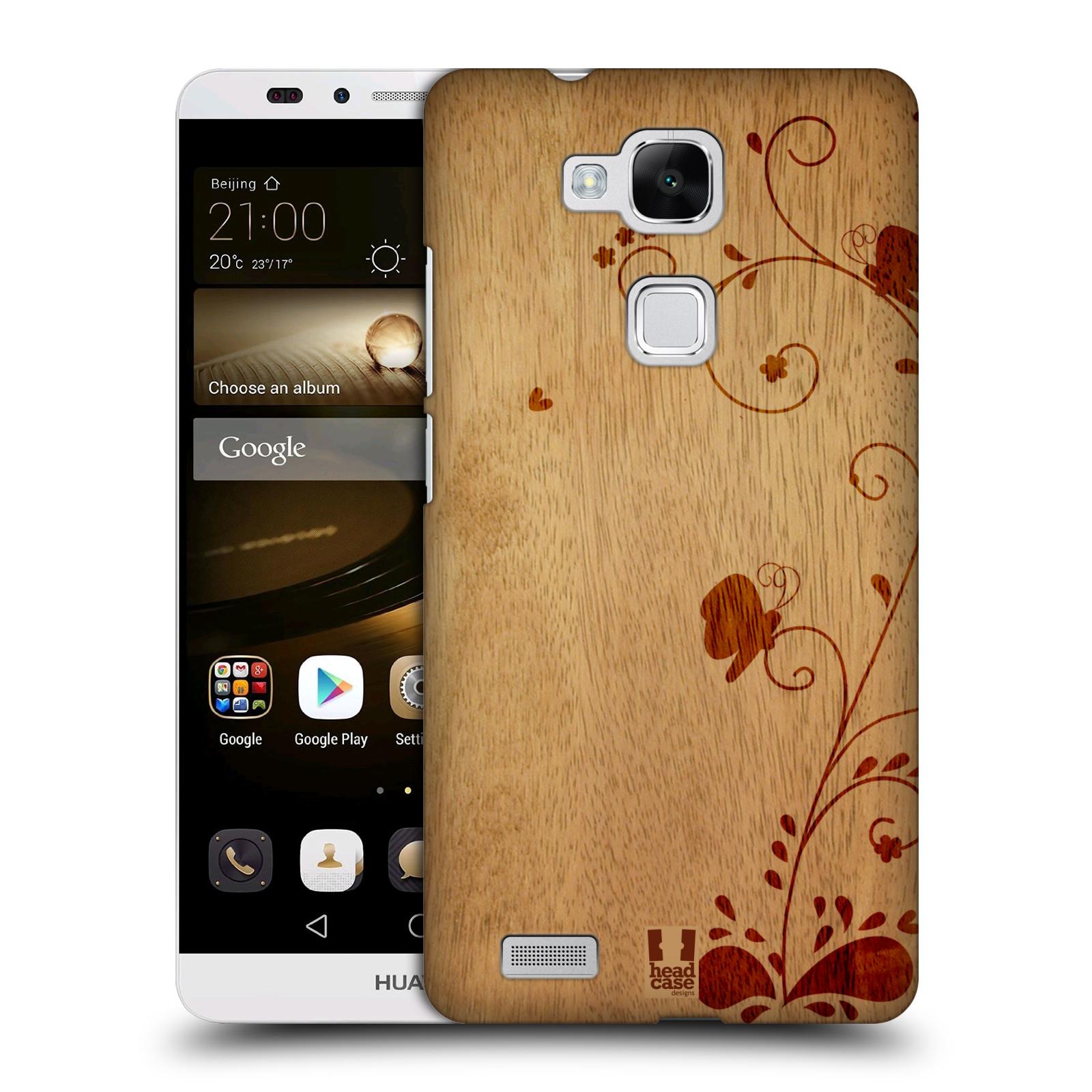 Plastové pouzdro na mobil Huawei Ascend Mate 7 HEAD CASE WOODART SWIRL (Kryt či obal na mobilní telefon Huawei Ascend Mate7)