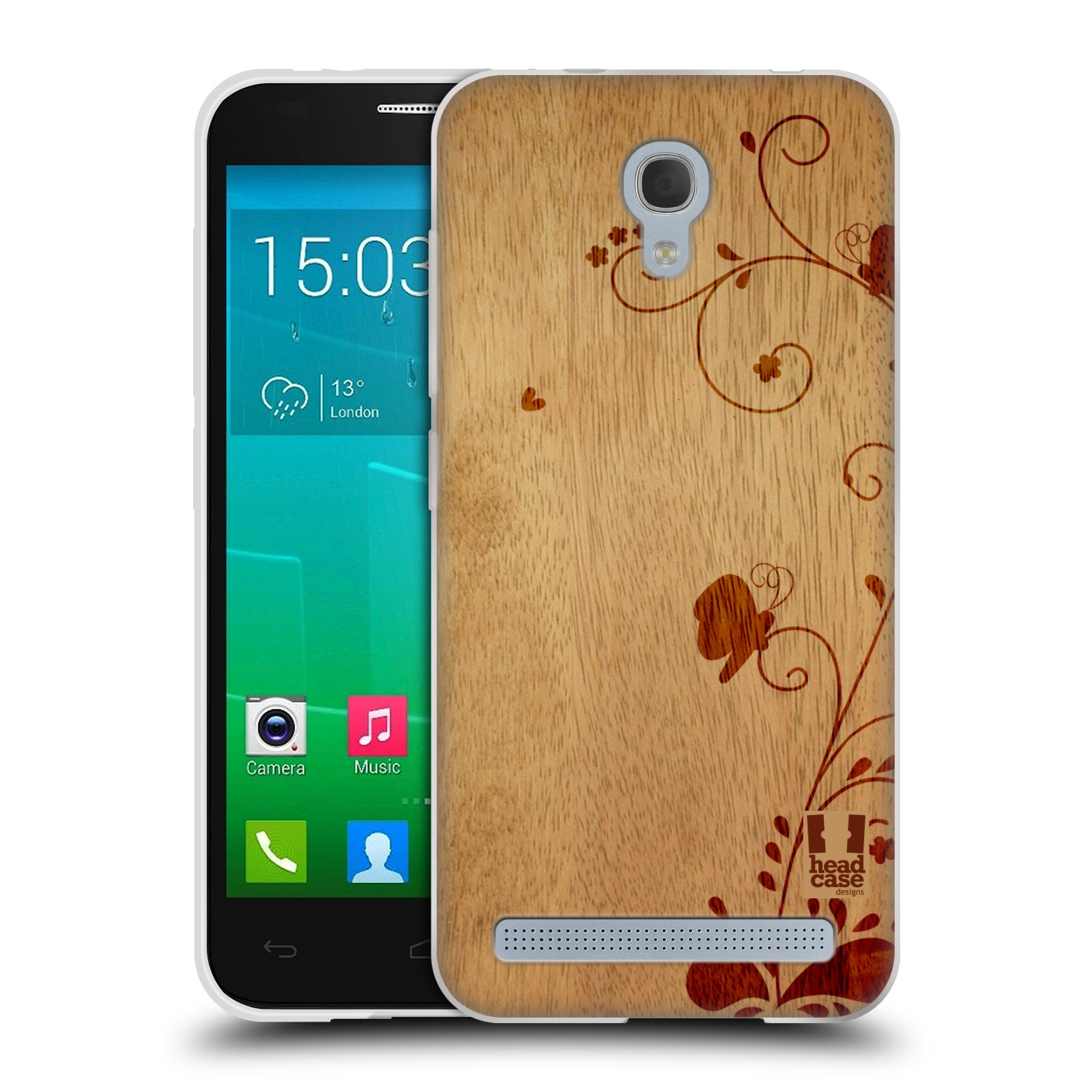 Silikonové pouzdro na mobil Alcatel One Touch Idol 2 Mini S 6036Y HEAD CASE WOODART SWIRL