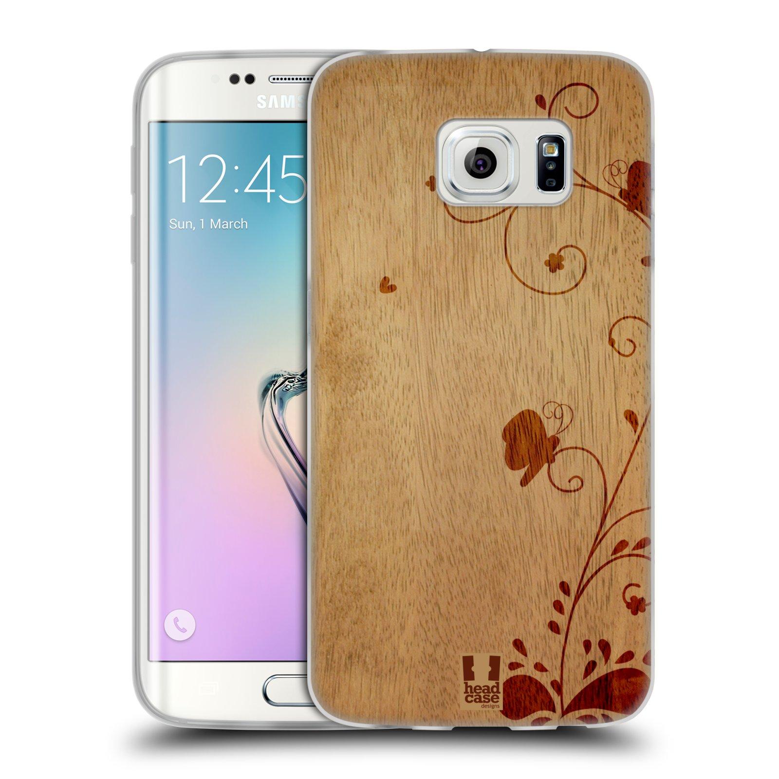 33bf4a9ff Silikonové pouzdro na mobil Samsung Galaxy S6 Edge HEAD CASE WOODART SWIRL