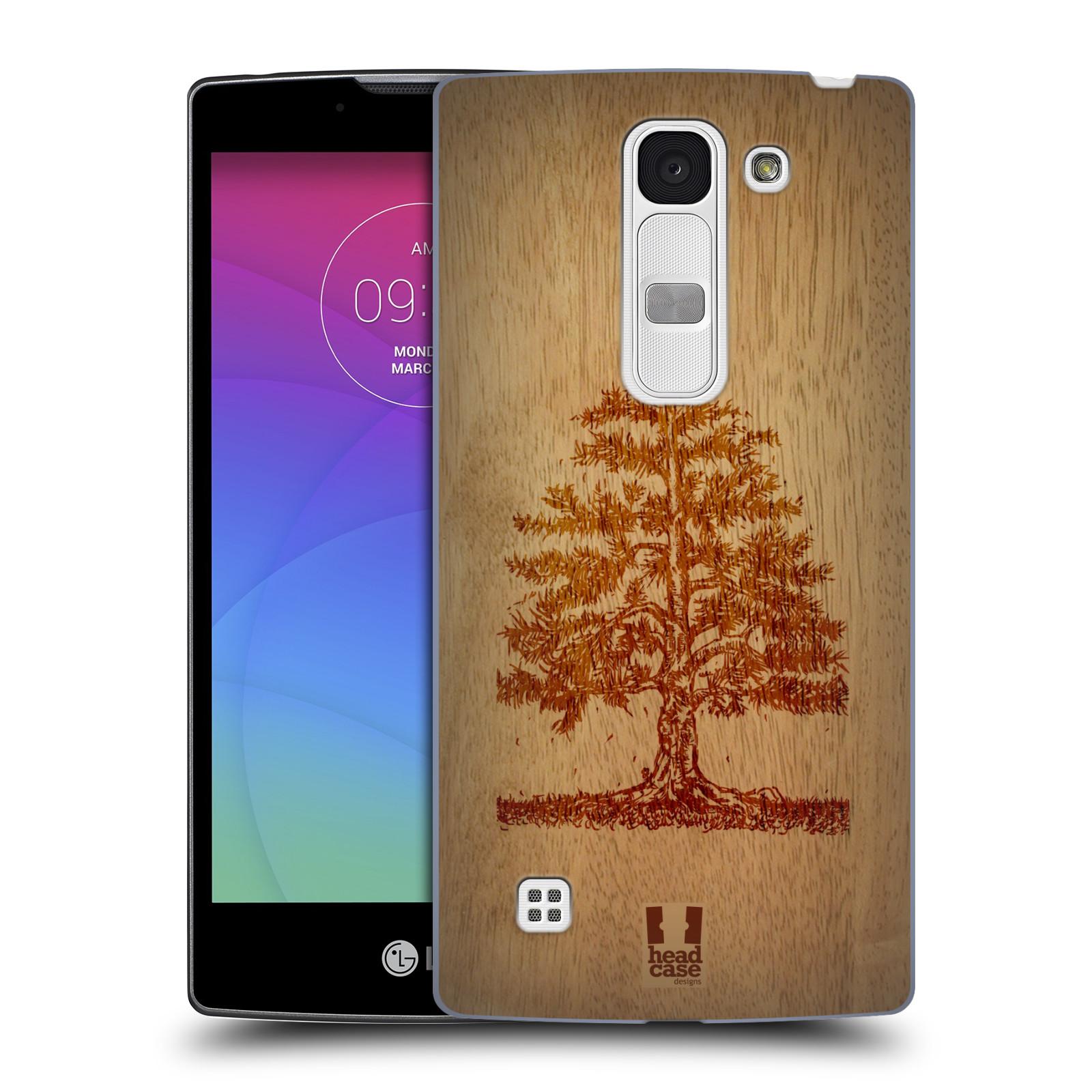 Plastové pouzdro na mobil LG Spirit LTE HEAD CASE WOODART TREE (Kryt či obal na mobilní telefon LG Spirit H420 a LG Spirit LTE H440N)