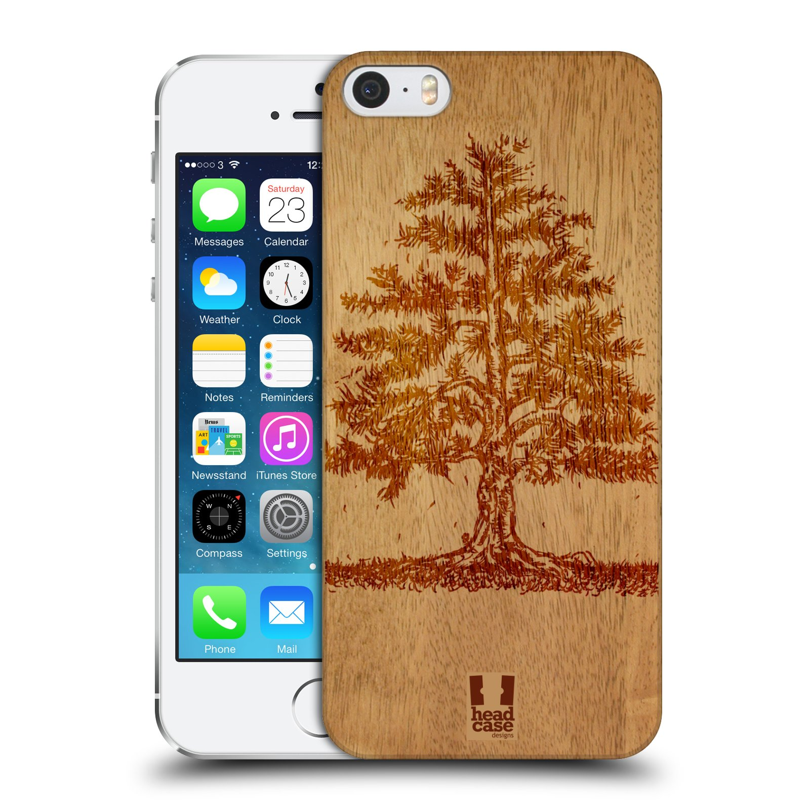 Plastové pouzdro na mobil Apple iPhone SE, 5 a 5S HEAD CASE WOODART TREE