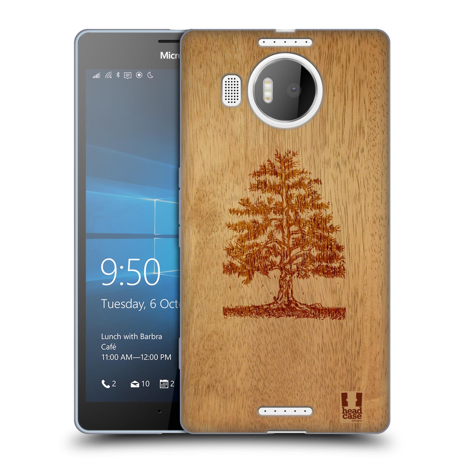 Silikonové pouzdro na mobil Microsoft Lumia 950 XL HEAD CASE WOODART TREE