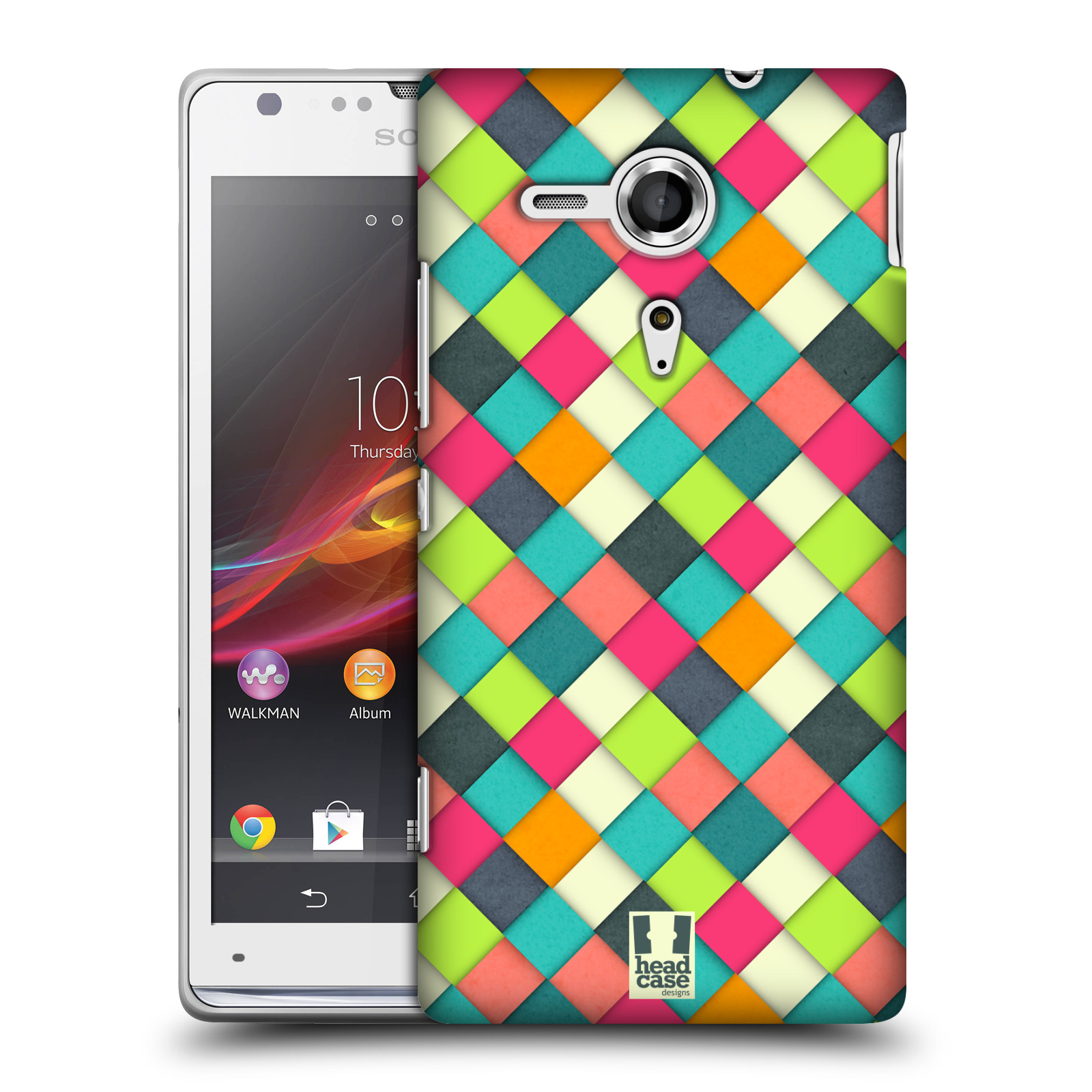 Plastové pouzdro na mobil Sony Xperia SP C5303 HEAD CASE WOVEN (Kryt či obal na mobilní telefon Sony Xperia SP )