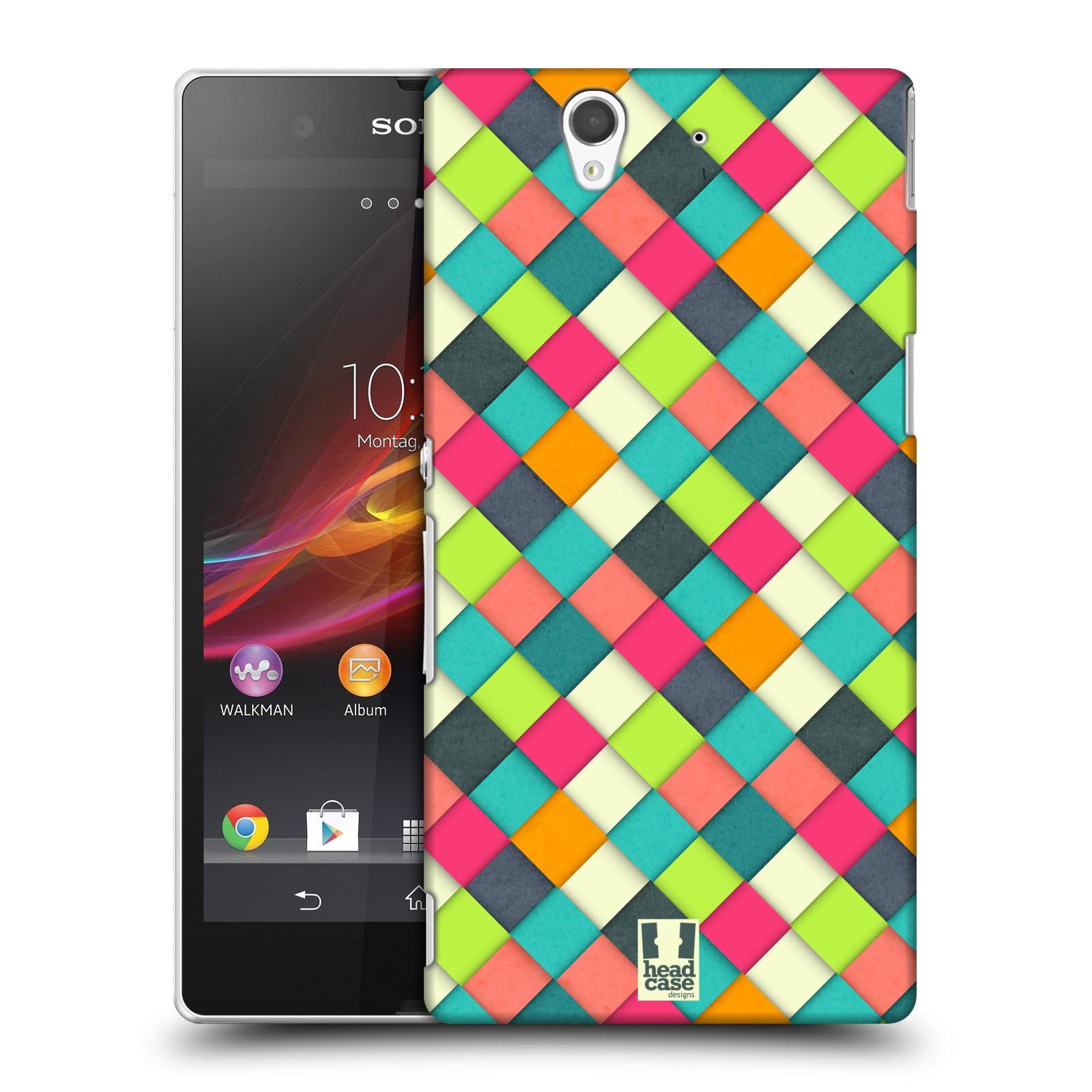 Plastové pouzdro na mobil Sony Xperia Z C6603 HEAD CASE WOVEN (Kryt či obal na mobilní telefon Sony Xperia Z )