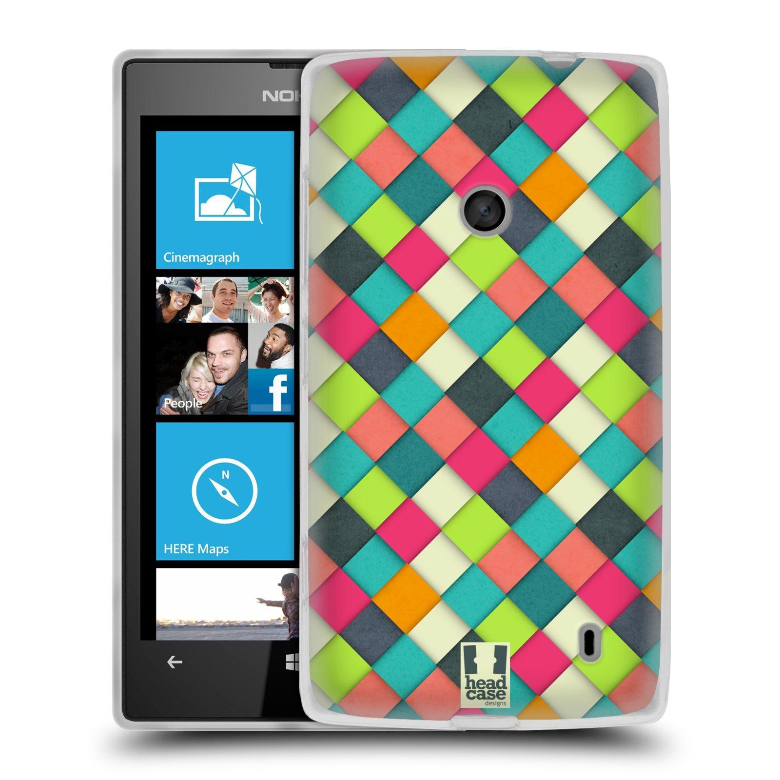 Silikonové pouzdro na mobil Nokia Lumia 520 HEAD CASE WOVEN (Silikonový Kryt či obal na mobilní telefon Nokia Lumia 520)