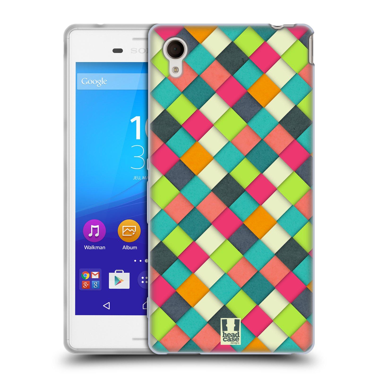 Silikonové pouzdro na mobil Sony Xperia M4 Aqua E2303 HEAD CASE WOVEN (Silikonový kryt či obal na mobilní telefon Sony Xperia M4 Aqua a M4 Aqua Dual SIM)