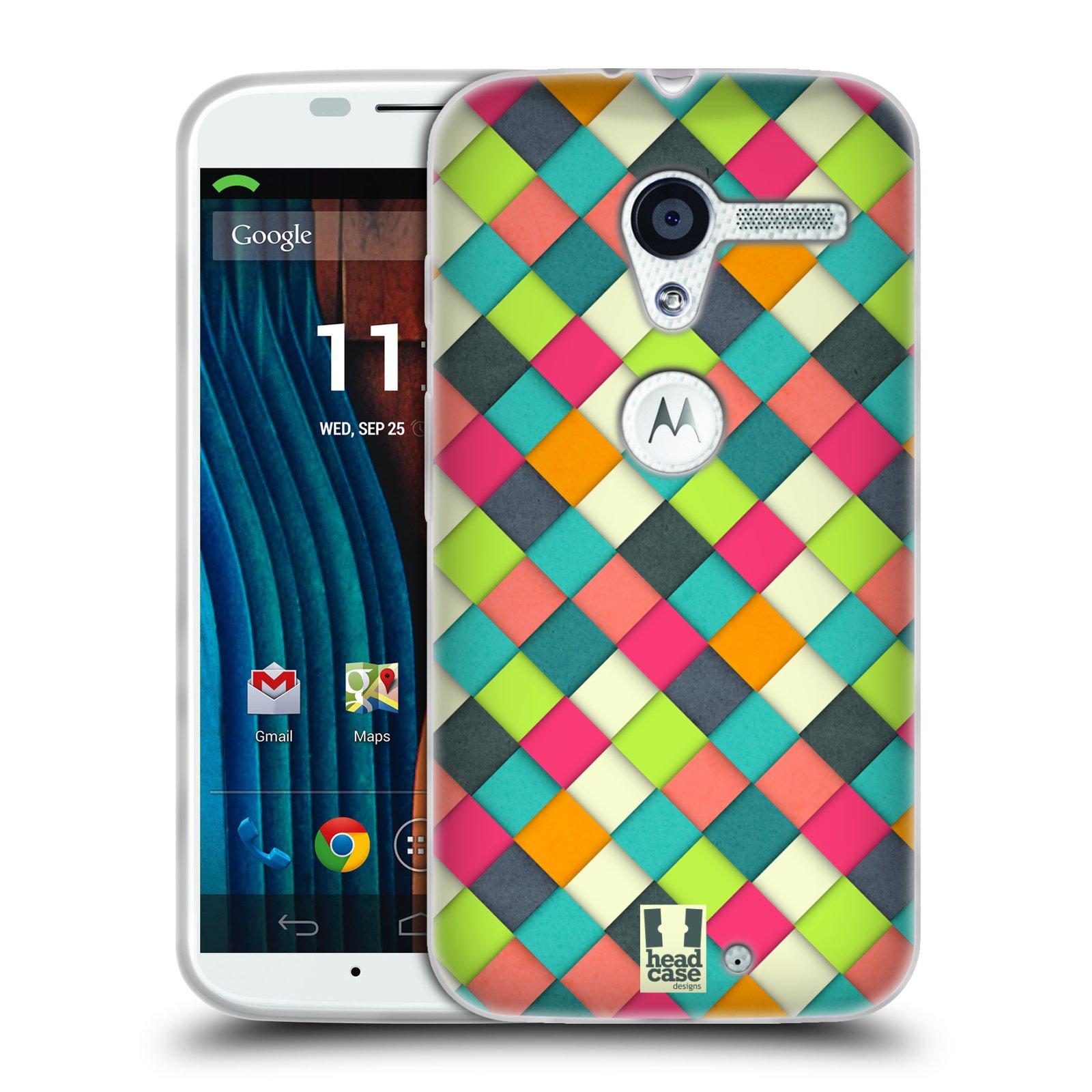 Silikonové pouzdro na mobil Motorola Moto X HEAD CASE WOVEN (Silikonový kryt či obal na mobilní telefon Motorola Moto X)