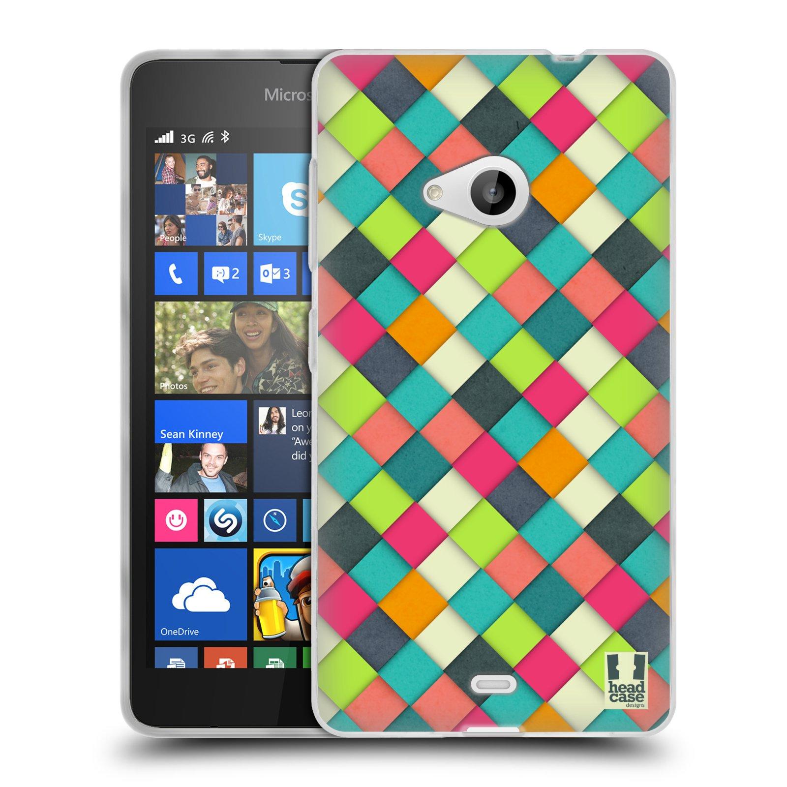 Silikonové pouzdro na mobil Microsoft Lumia 535 HEAD CASE WOVEN (Silikonový kryt či obal na mobilní telefon Microsoft Lumia 535)