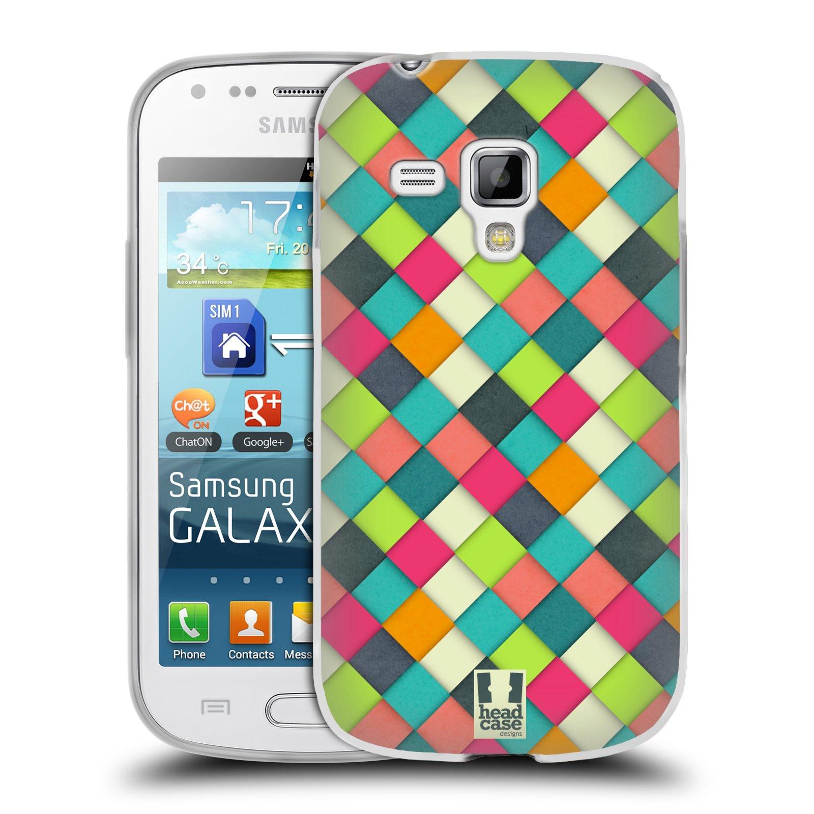 Silikonové pouzdro na mobil Samsung Galaxy Trend Plus HEAD CASE WOVEN (Silikonový kryt či obal na mobilní telefon Samsung Galaxy Trend Plus GT-S7580)