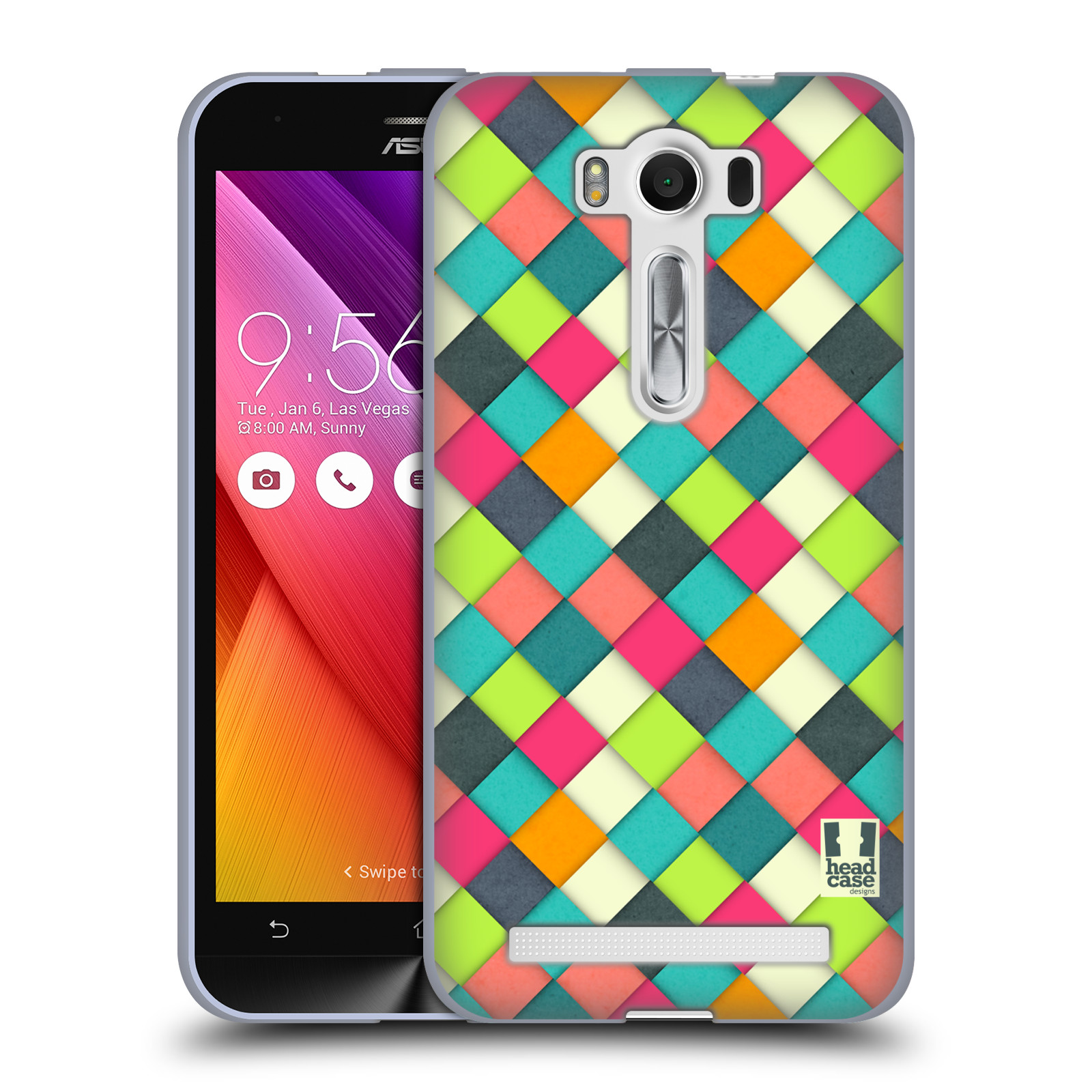 """Silikonové pouzdro na mobil Asus ZenFone 2 Laser ZE500KL HEAD CASE WOVEN (Silikonový kryt či obal na mobilní telefon Asus ZenFone 2 Laser ZE500KL s 5"""" displejem)"""