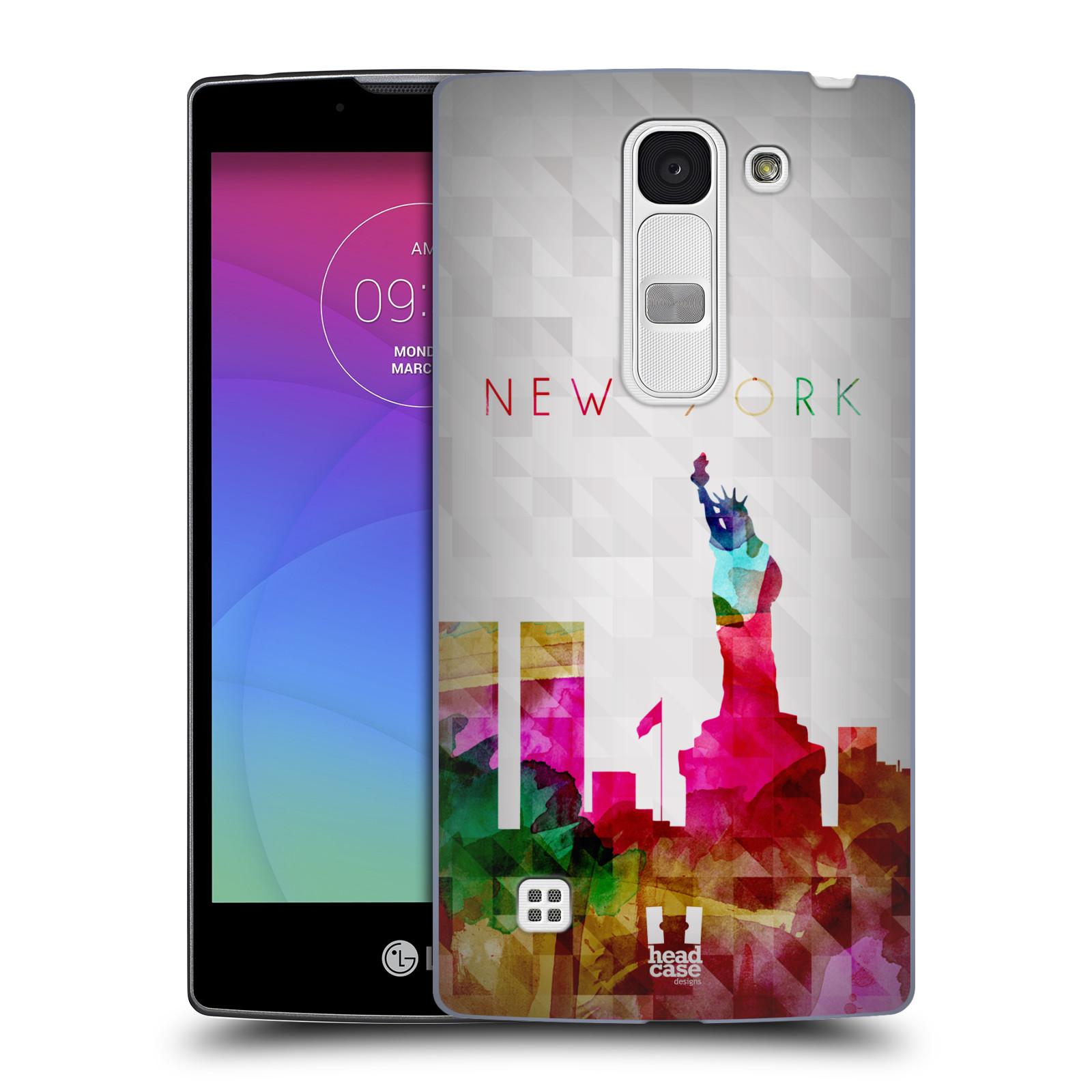 Plastové pouzdro na mobil LG Spirit LTE HEAD CASE SKYLINE NEW YORK (Kryt či obal na mobilní telefon LG Spirit H420 a LG Spirit LTE H440N)