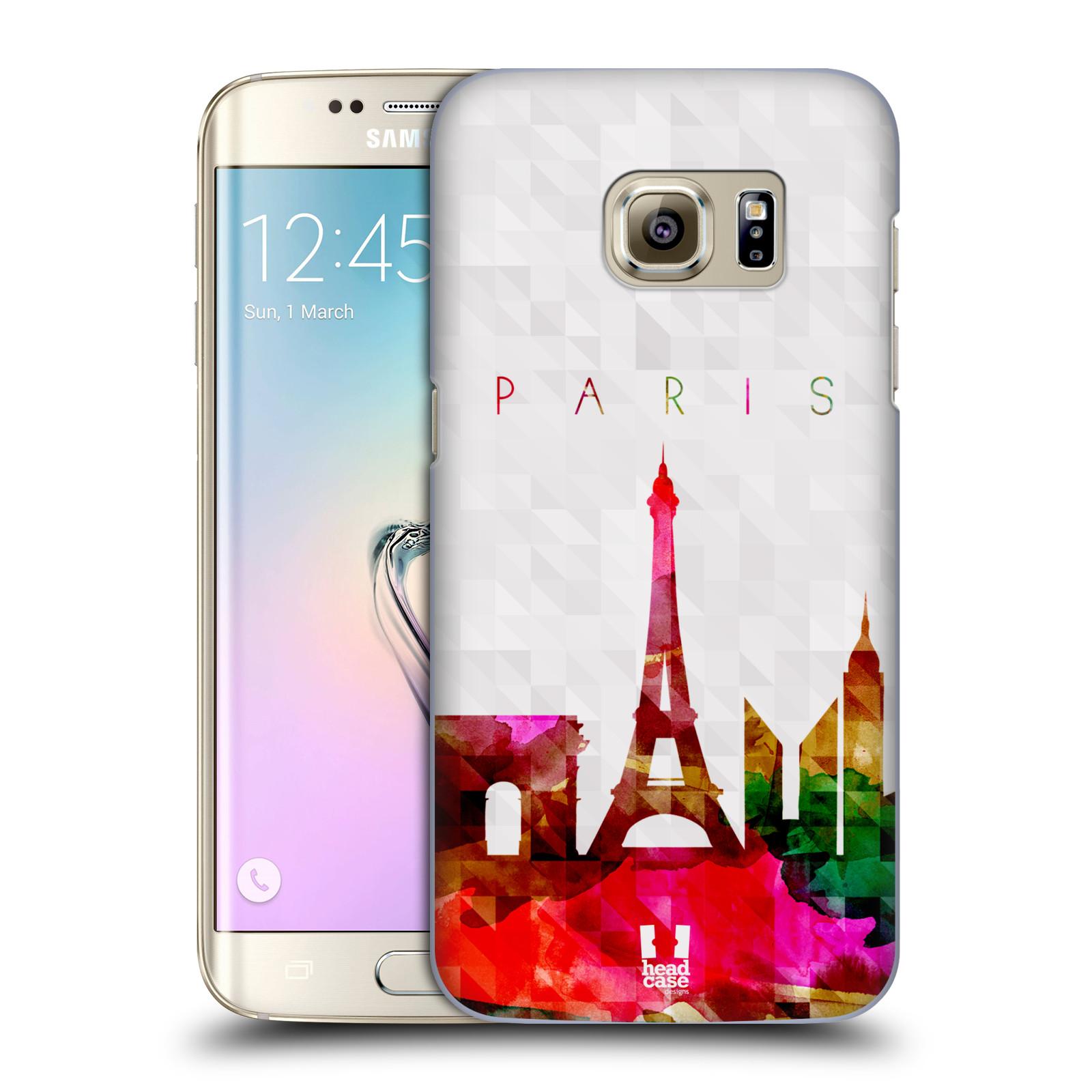Plastové pouzdro na mobil Samsung Galaxy S7 Edge HEAD CASE SKYLINE PAŘIŽ (Kryt či obal na mobilní telefon Samsung Galaxy S7 Edge SM-G935F)