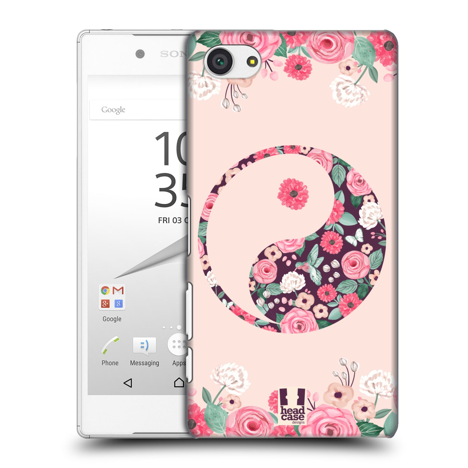 Plastové pouzdro na mobil Sony Xperia Z5 Compact HEAD CASE Yin a Yang Floral