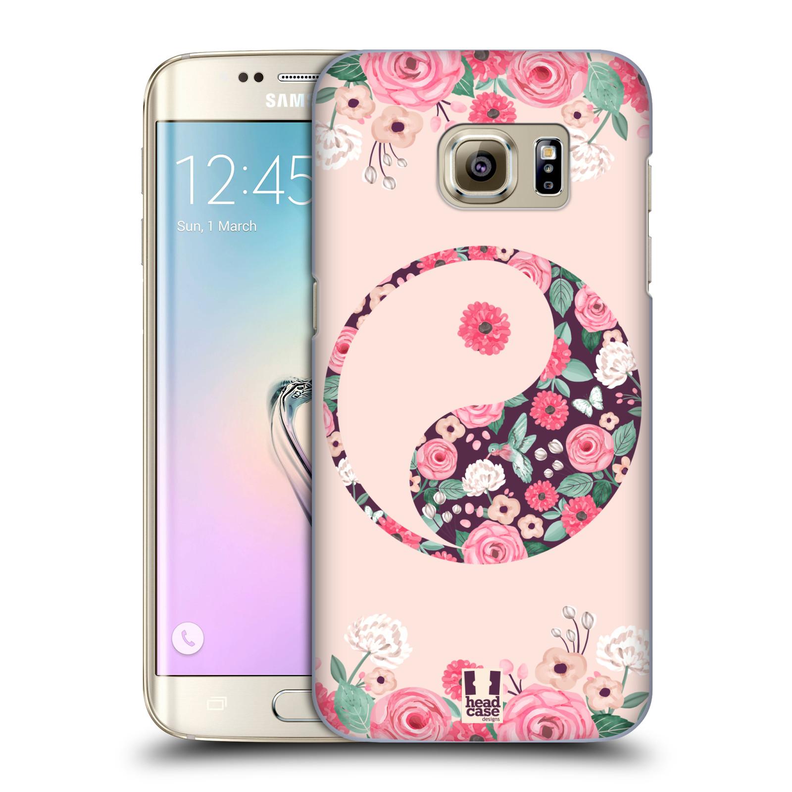 Plastové pouzdro na mobil Samsung Galaxy S7 Edge HEAD CASE Yin a Yang Floral (Kryt či obal na mobilní telefon Samsung Galaxy S7 Edge SM-G935F)