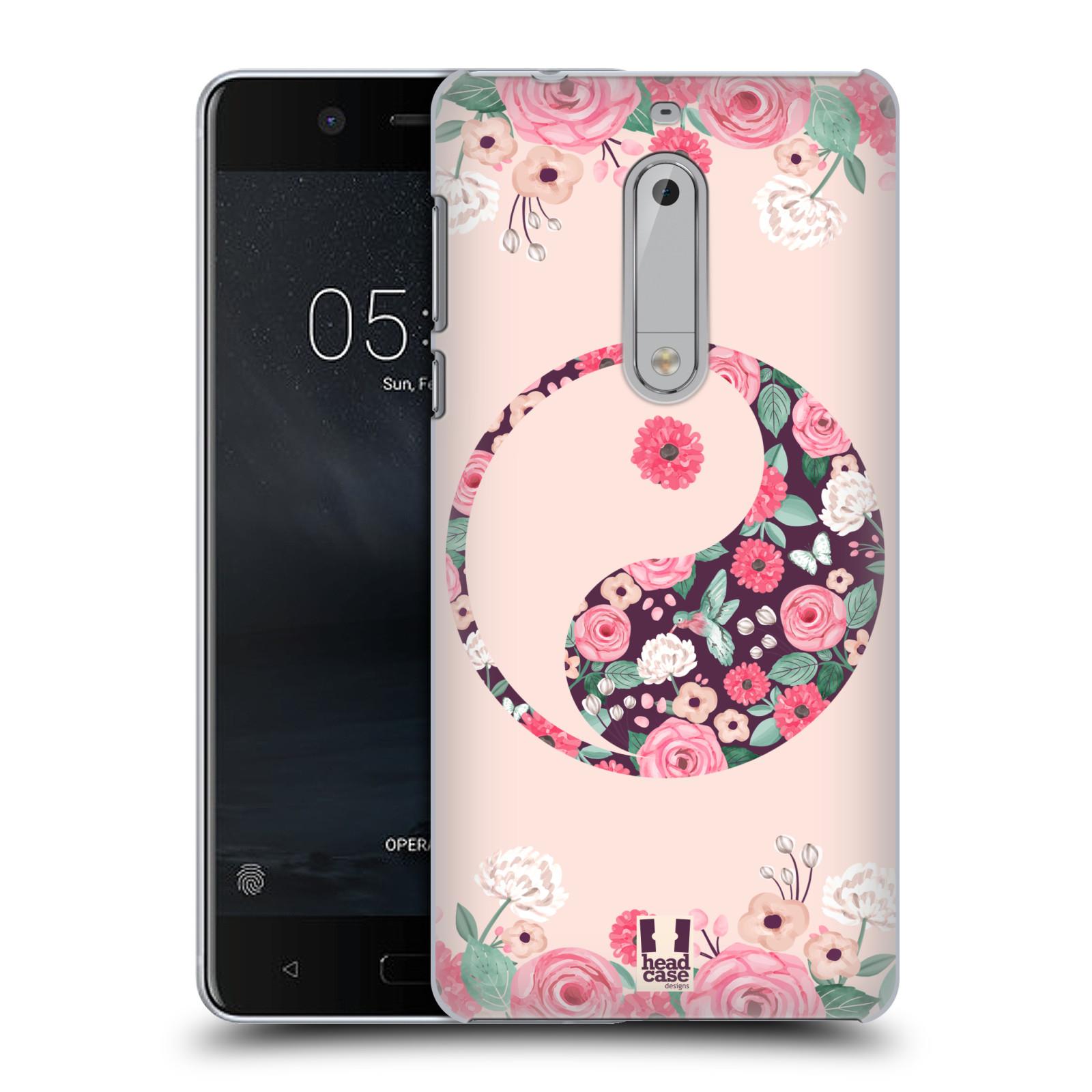 Plastové pouzdro na mobil Nokia 5 Head Case - Yin a Yang Floral