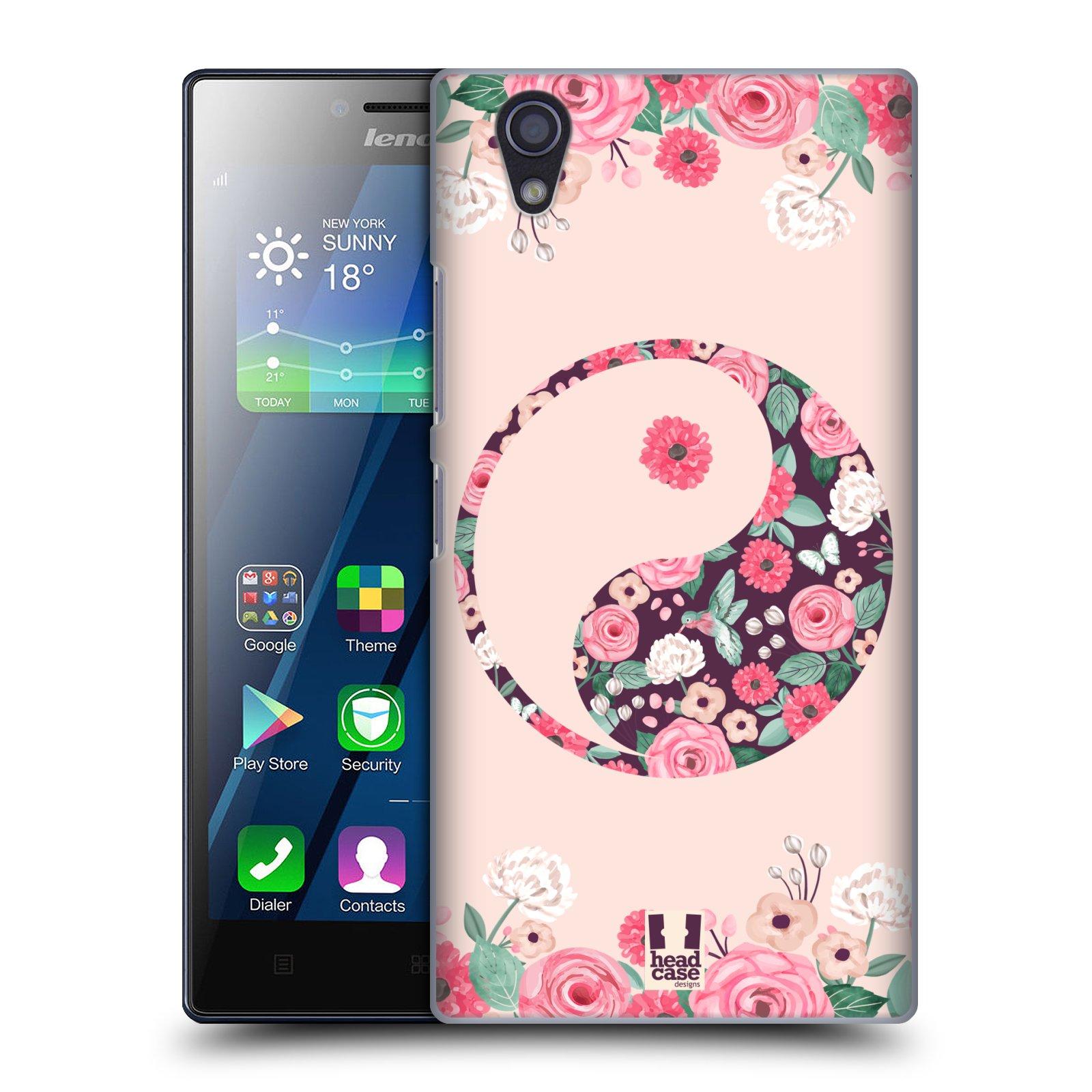 Plastové pouzdro na mobil Lenovo P70 HEAD CASE Yin a Yang Floral (Kryt či obal na mobilní telefon Lenovo P70)