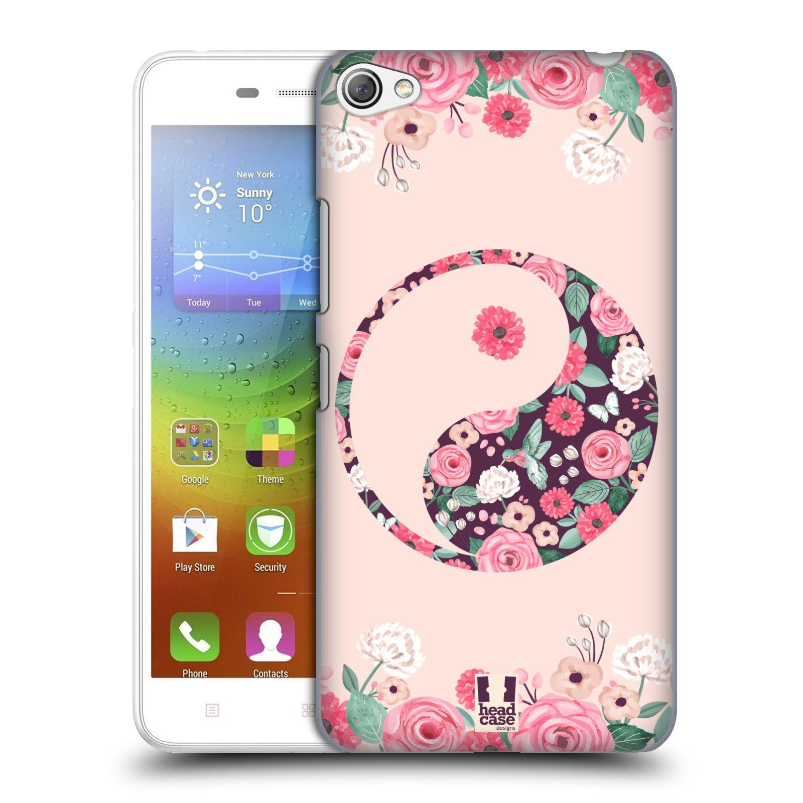 Plastové pouzdro na mobil Lenovo S60 HEAD CASE Yin a Yang Floral (Kryt či obal na mobilní telefon Lenovo S60)