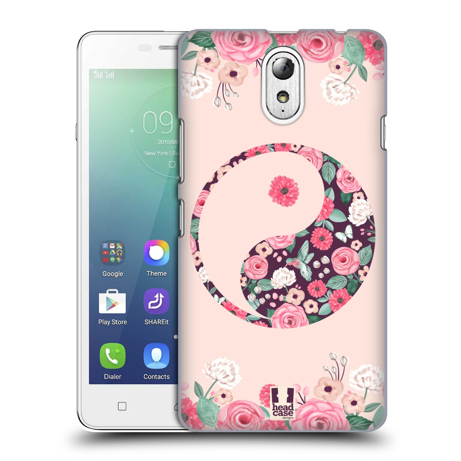 Plastové pouzdro na mobil Lenovo Vibe P1m HEAD CASE Yin a Yang Floral